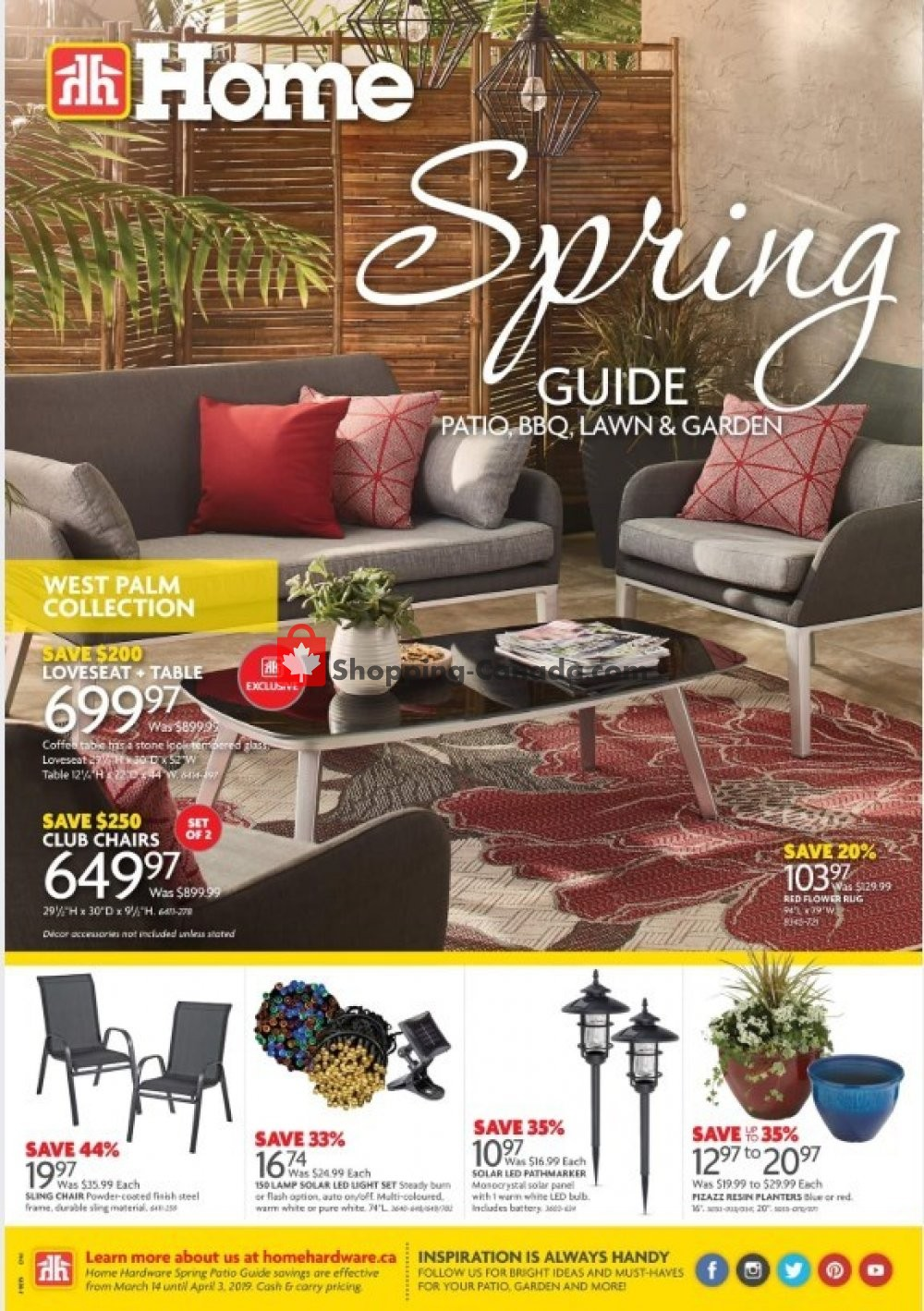 Flyer Home Hardware Canada - from Thursday March 14, 2019 to Wednesday April 3, 2019