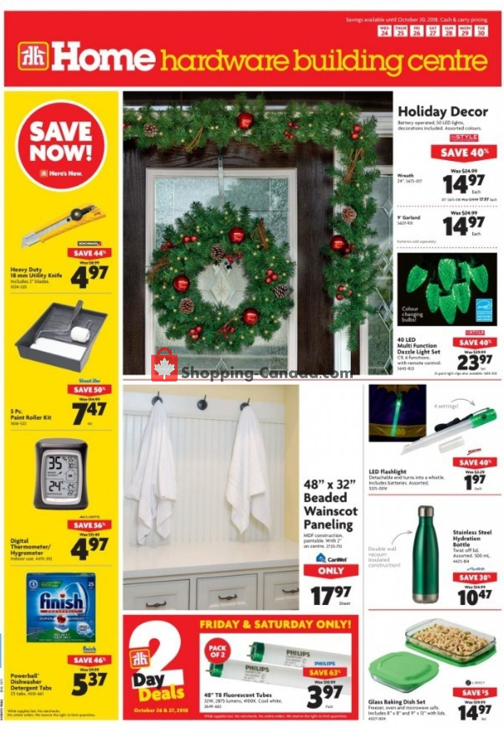 Flyer Home Hardware Canada - from Wednesday October 24, 2018 to Tuesday October 30, 2018