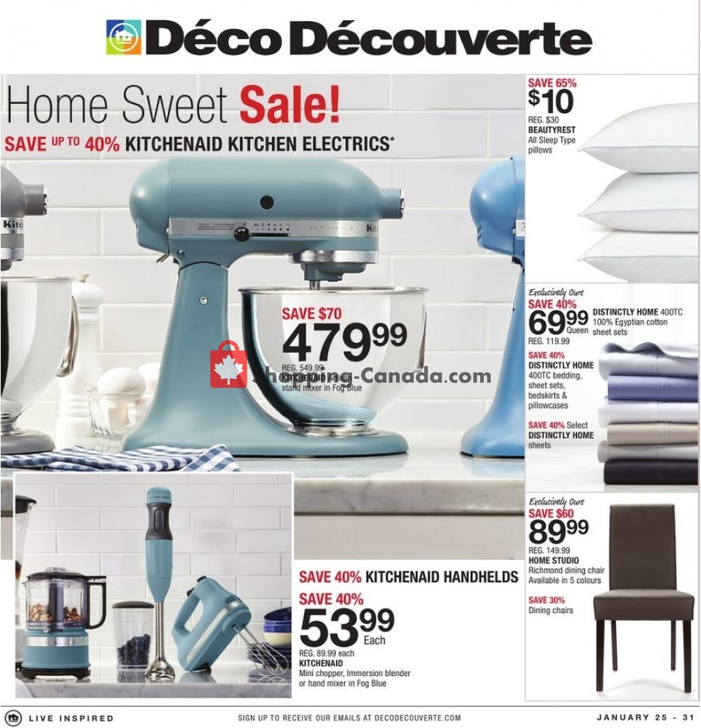 Flyer Home Outfitters Canada - from Friday January 25, 2019 to Thursday January 31, 2019