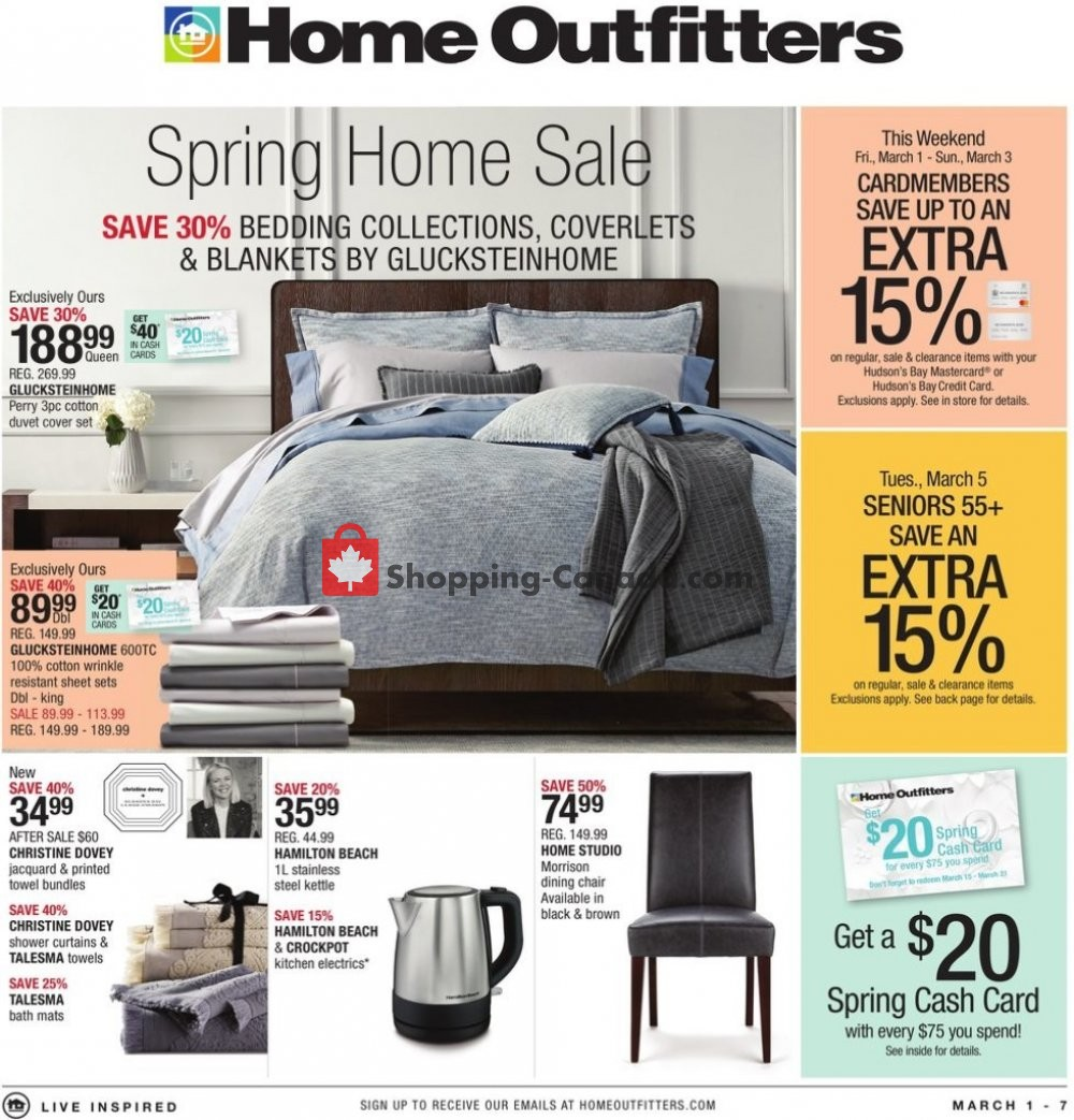 Flyer Home Outfitters Canada - from Friday March 1, 2019 to Thursday March 7, 2019