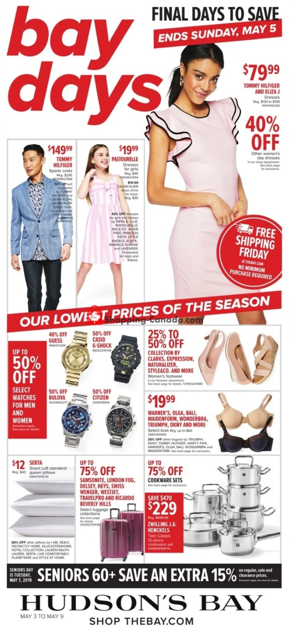Flyer Hudson's Bay Canada - from Friday May 3, 2019 to Thursday May 9, 2019