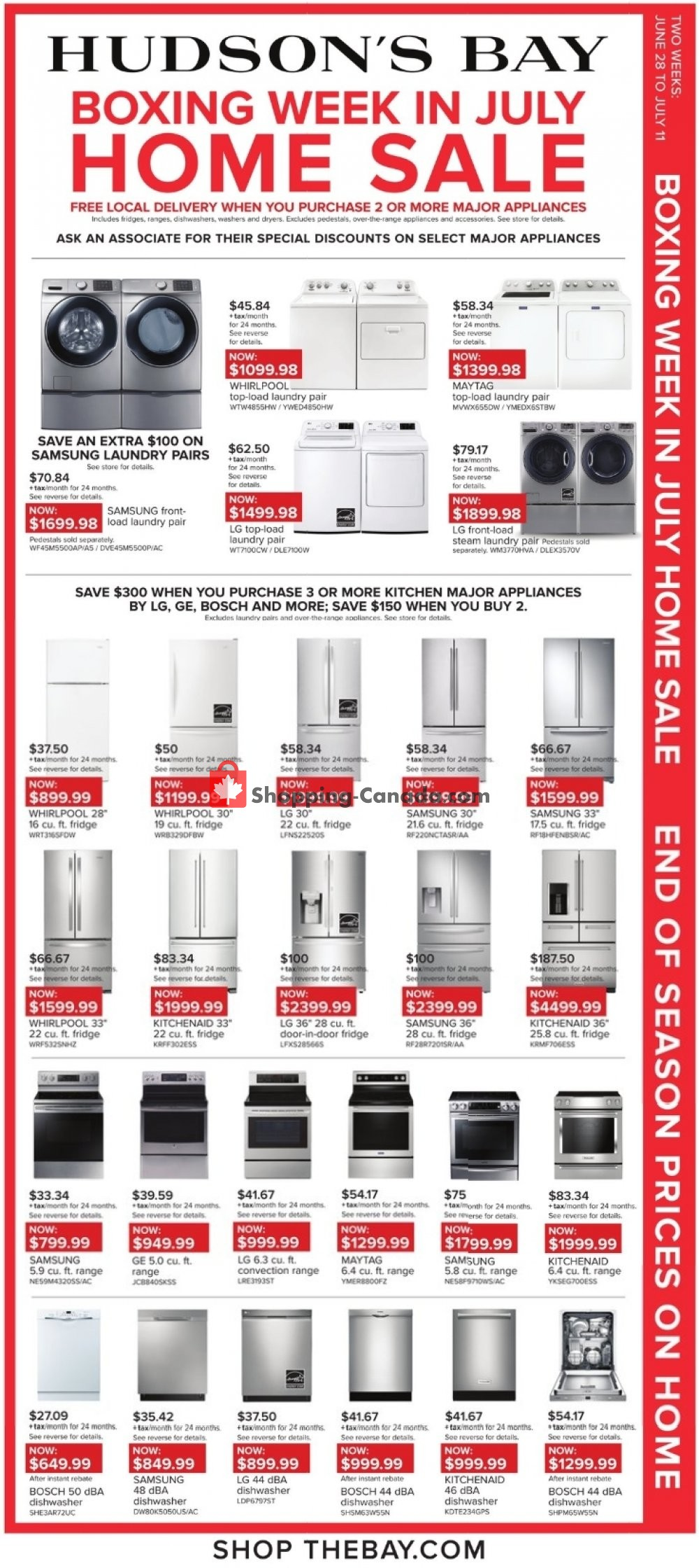 Flyer Hudson's Bay Canada - from Friday June 28, 2019 to Thursday July 11, 2019