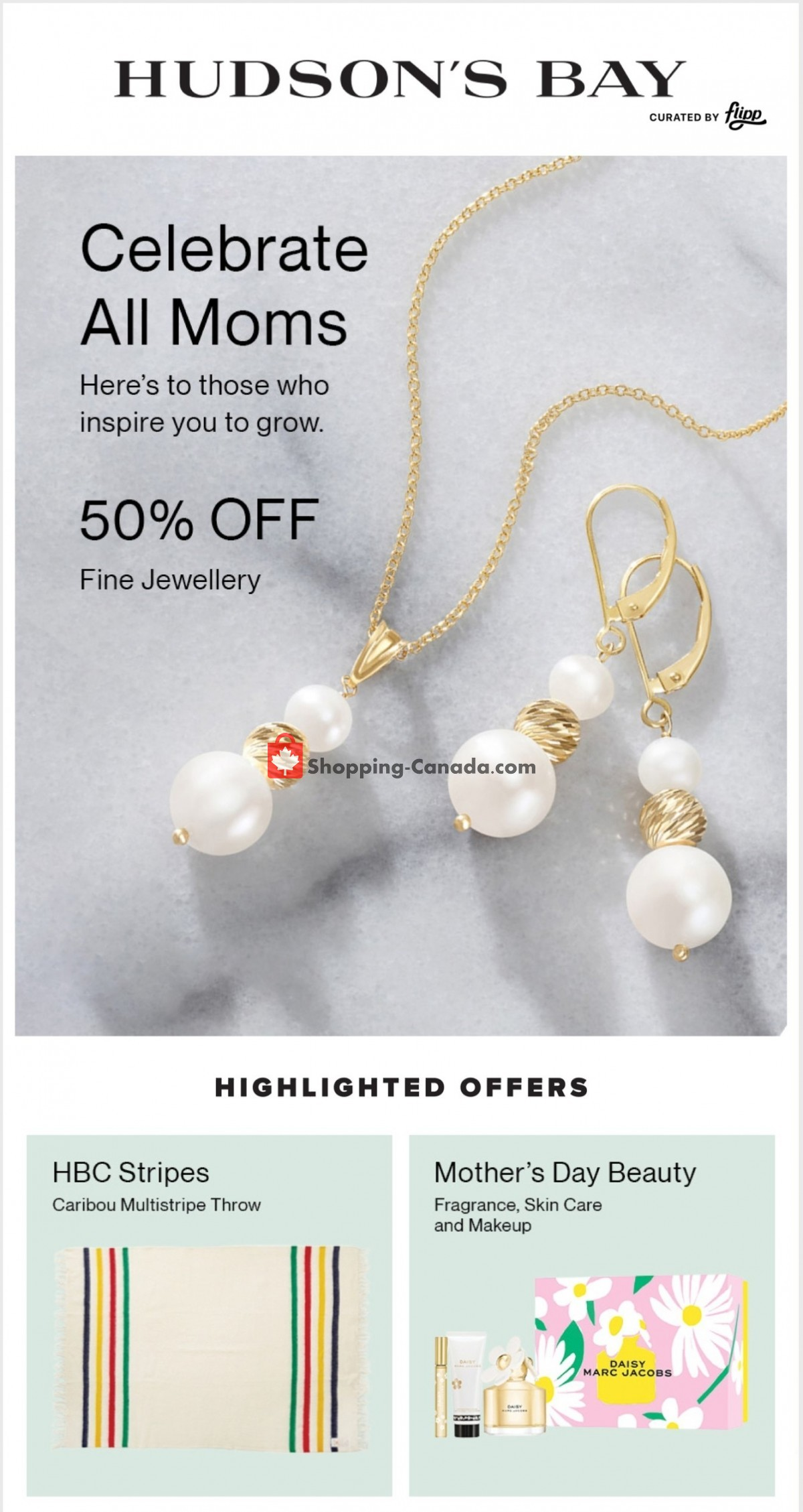 Flyer Hudson's Bay Canada - from Friday May 7, 2021 to Thursday May 13, 2021