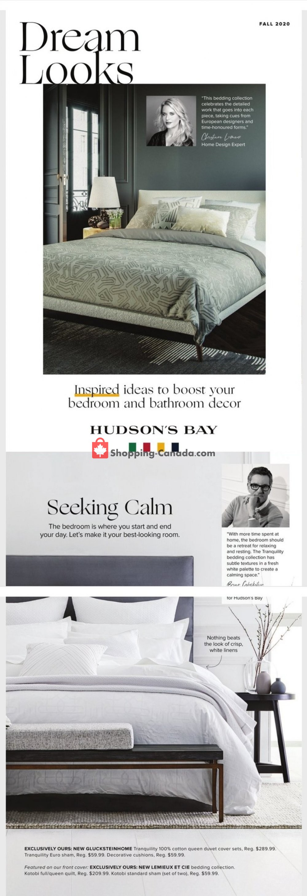 Flyer Hudson's Bay Canada - from Wednesday October 14, 2020 to Saturday October 31, 2020