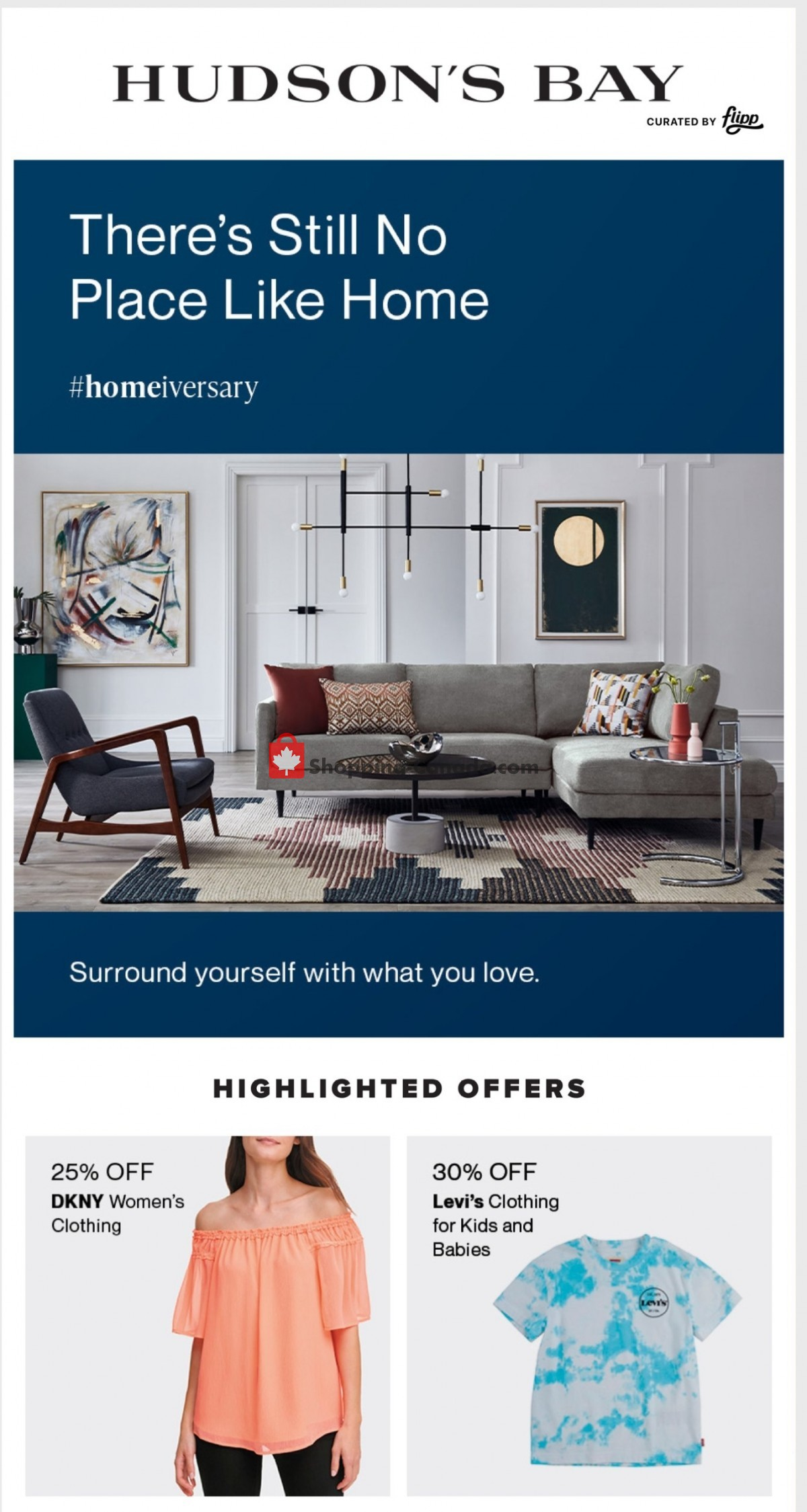 Flyer Hudson's Bay Canada - from Friday March 26, 2021 to Wednesday March 31, 2021