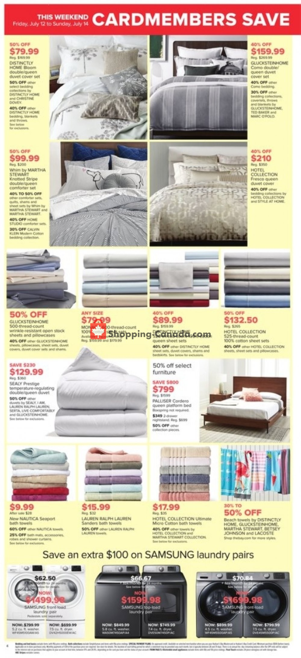 Flyer Hudson's Bay Canada - from Friday July 12, 2019 to Thursday July 18, 2019