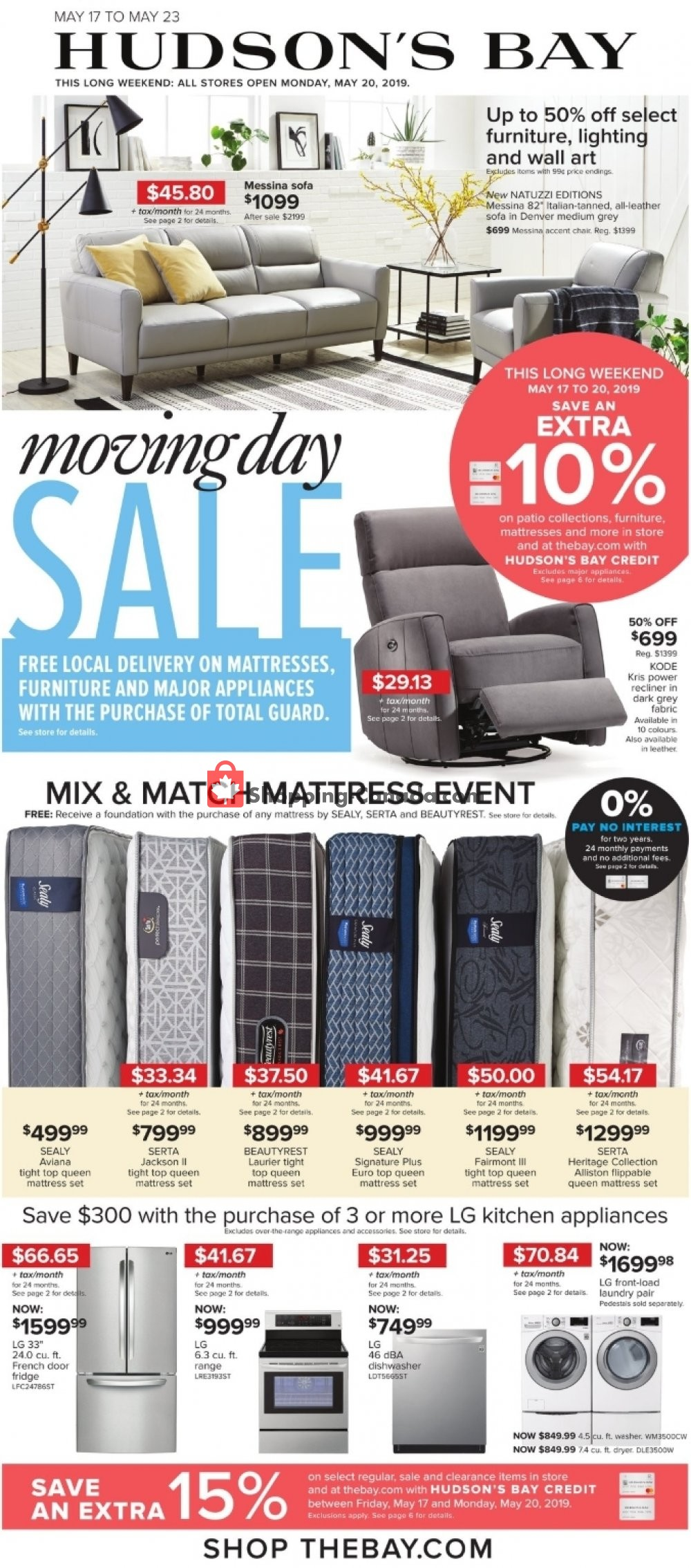 Flyer Hudson's Bay Canada - from Friday May 17, 2019 to Thursday May 23, 2019