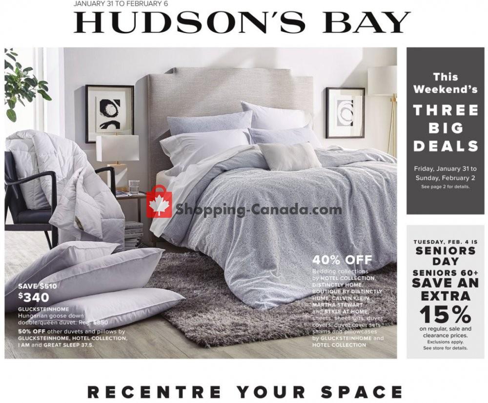 Flyer Hudson's Bay Canada - from Friday January 31, 2020 to Thursday February 6, 2020