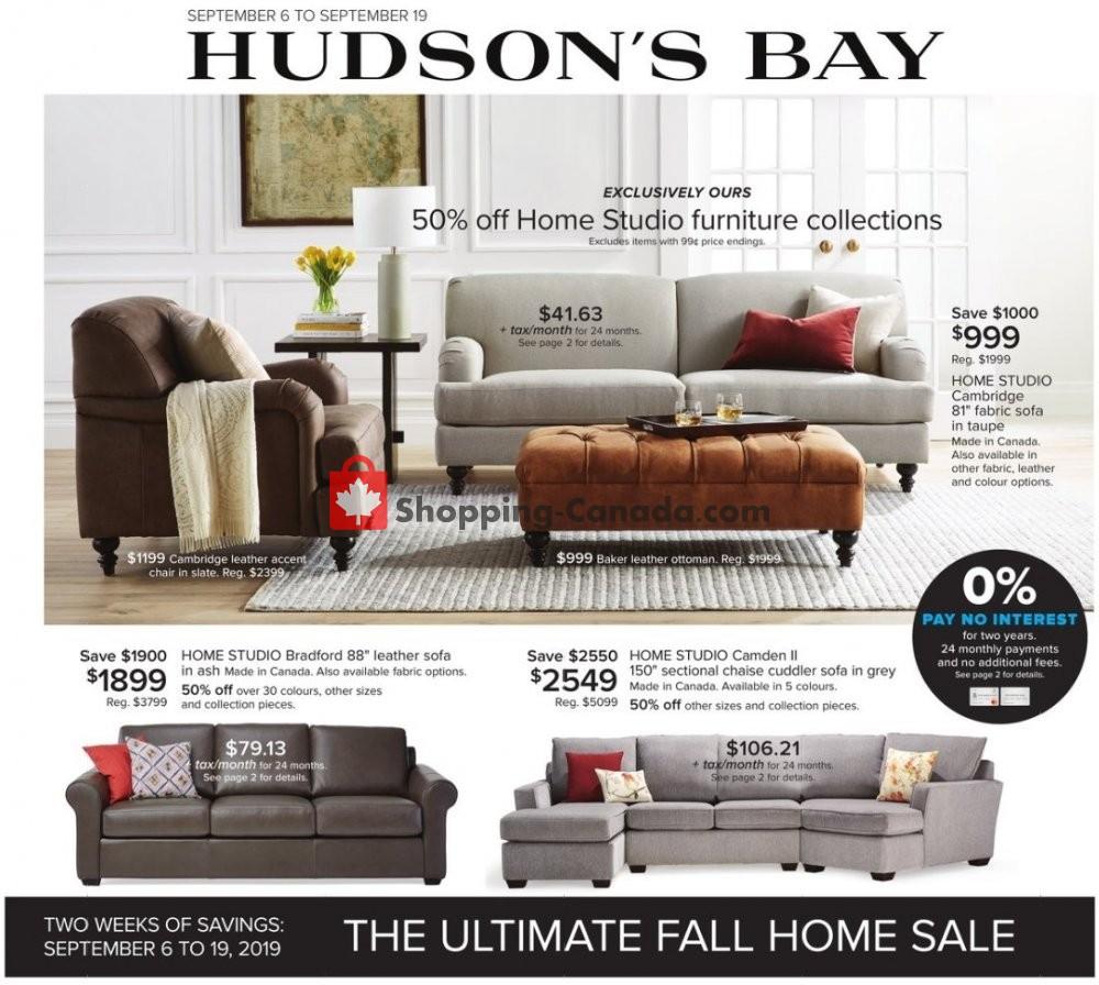 Flyer Hudson's Bay Canada - from Friday September 6, 2019 to Thursday September 12, 2019
