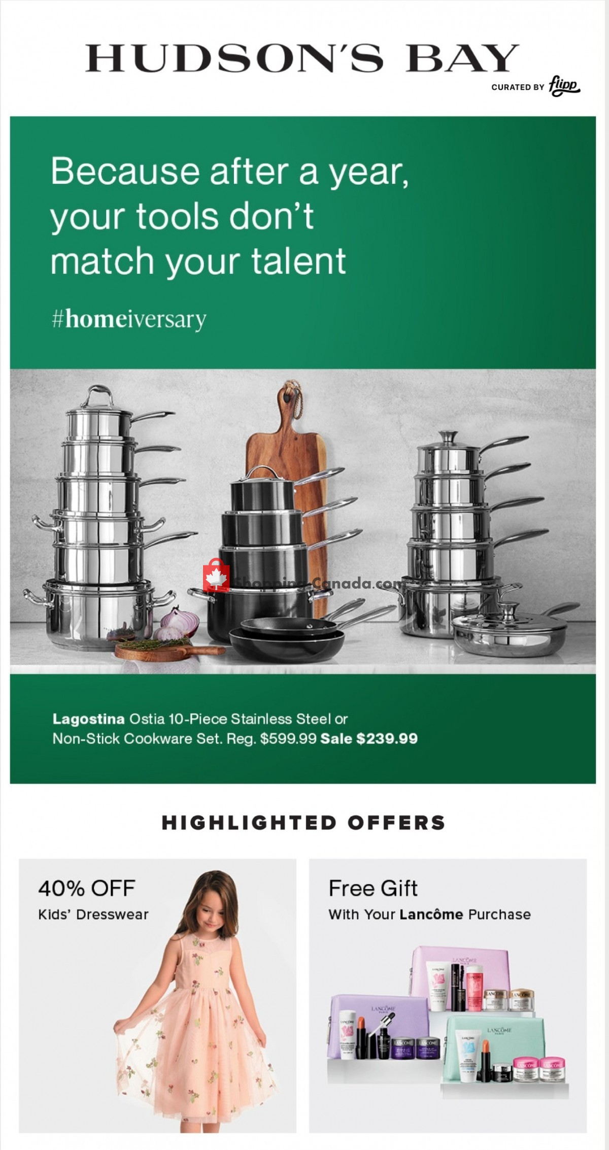 Flyer Hudson's Bay Canada - from Friday April 2, 2021 to Thursday April 8, 2021