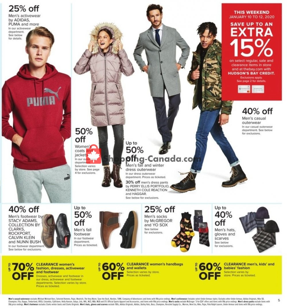 Flyer Hudson's Bay Canada - from Friday January 10, 2020 to Thursday January 16, 2020