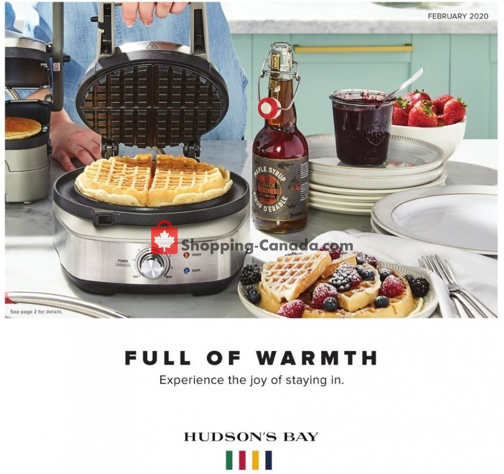 Flyer Hudson's Bay Canada - from Friday January 31, 2020 to Thursday February 27, 2020