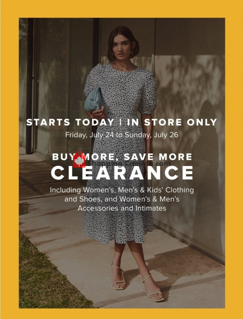Flyer Hudson's Bay Canada - from Friday July 24, 2020 to Monday July 27, 2020