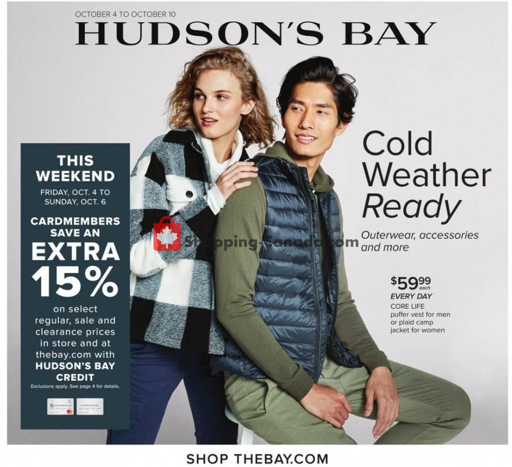 Flyer Hudson's Bay Canada - from Friday October 4, 2019 to Thursday October 10, 2019