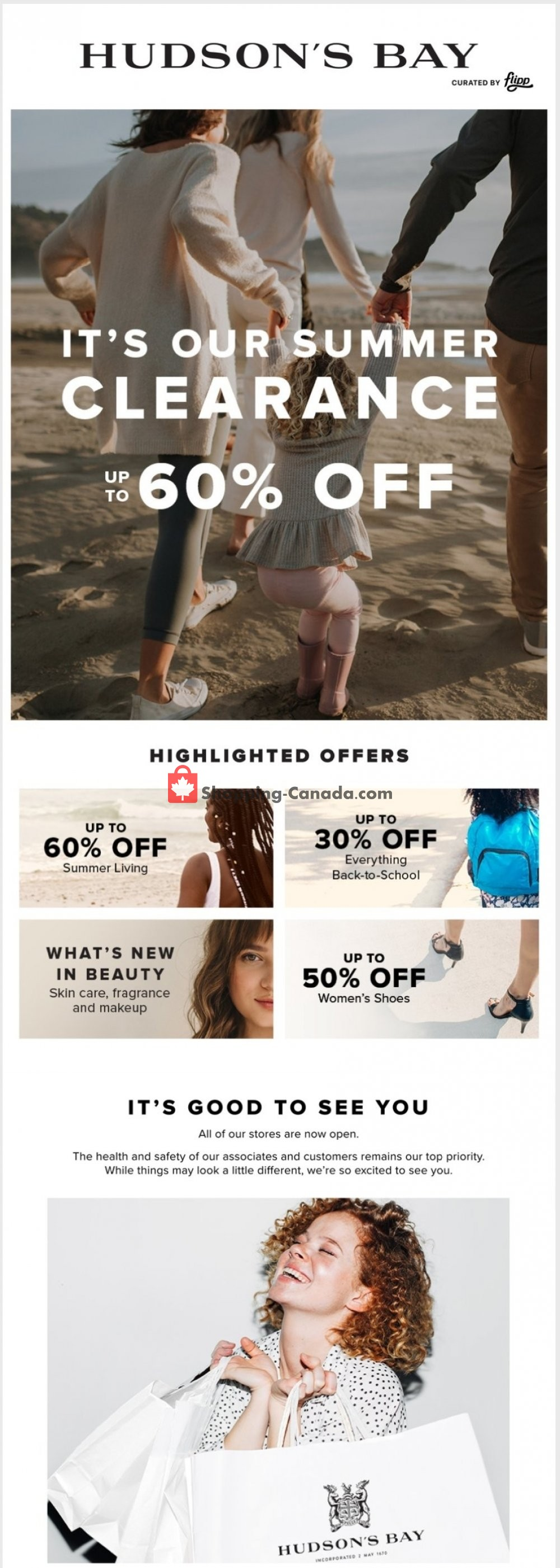 Flyer Hudson's Bay Canada - from Friday August 7, 2020 to Friday August 14, 2020