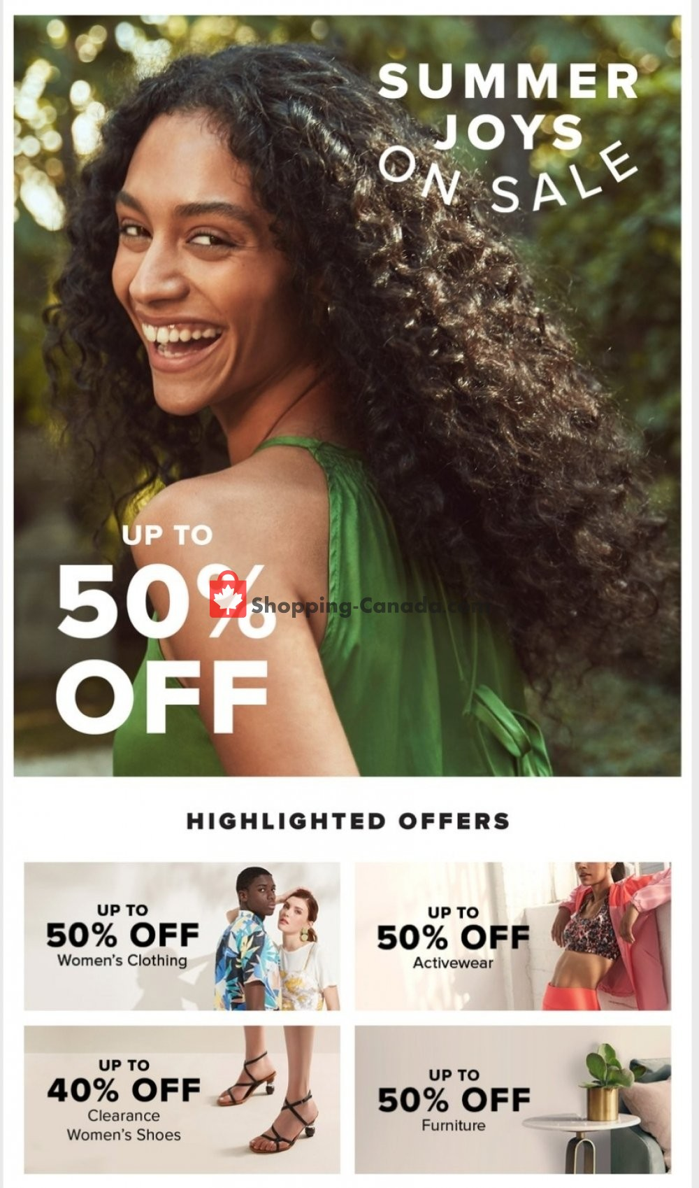Flyer Hudson's Bay Canada - from Friday July 10, 2020 to Friday July 17, 2020