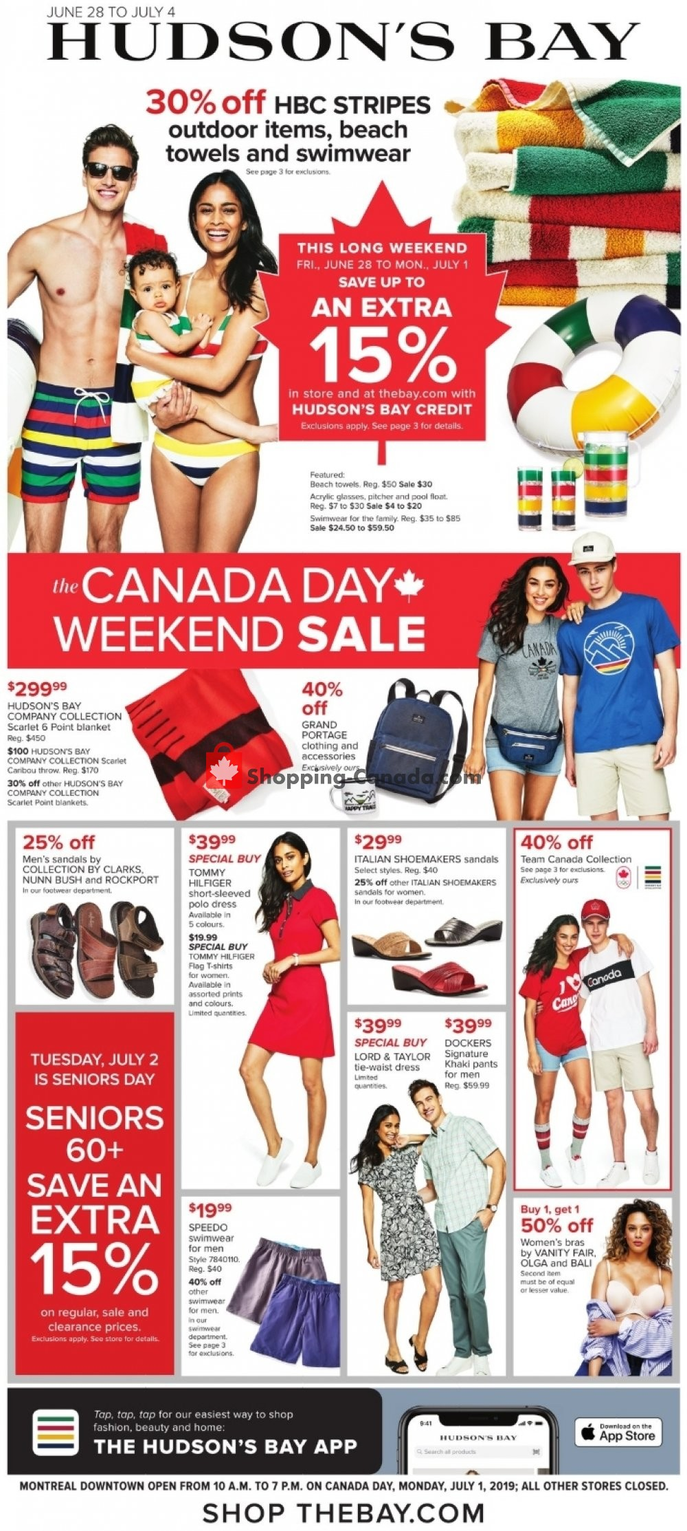 Flyer Hudson's Bay Canada - from Friday June 28, 2019 to Thursday July 4, 2019