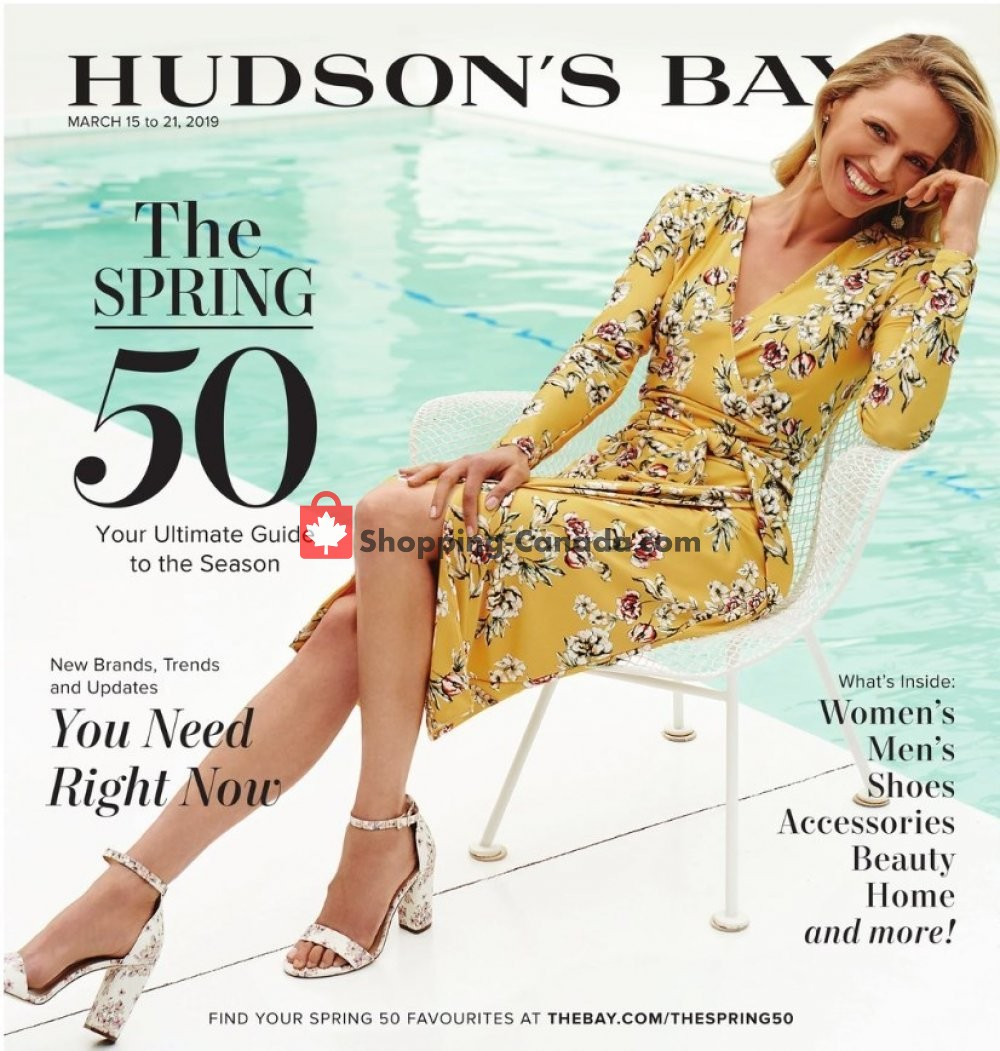 Flyer Hudson's Bay Canada - from Friday March 15, 2019 to Thursday March 21, 2019