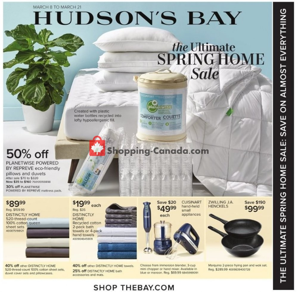 Flyer Hudson's Bay Canada - from Friday March 8, 2019 to Thursday March 21, 2019