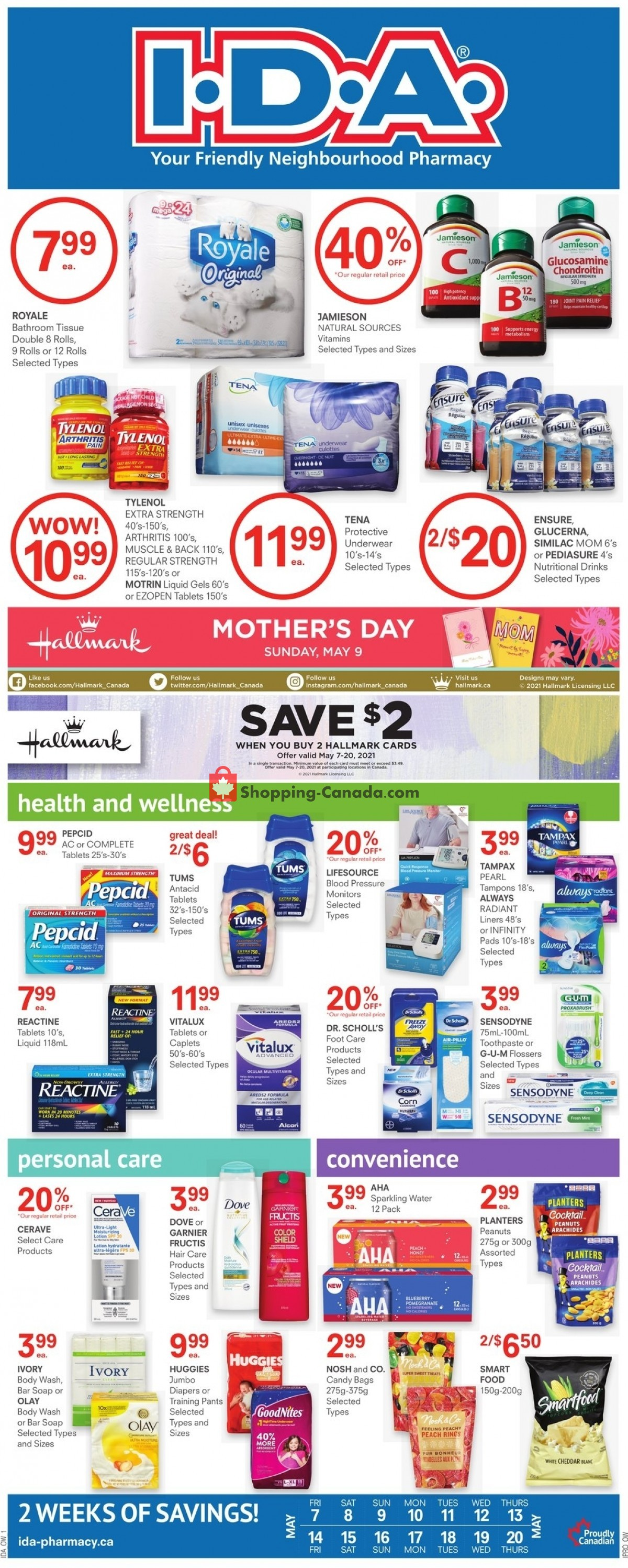 Flyer I.D.A. Canada - from Friday May 7, 2021 to Thursday May 20, 2021