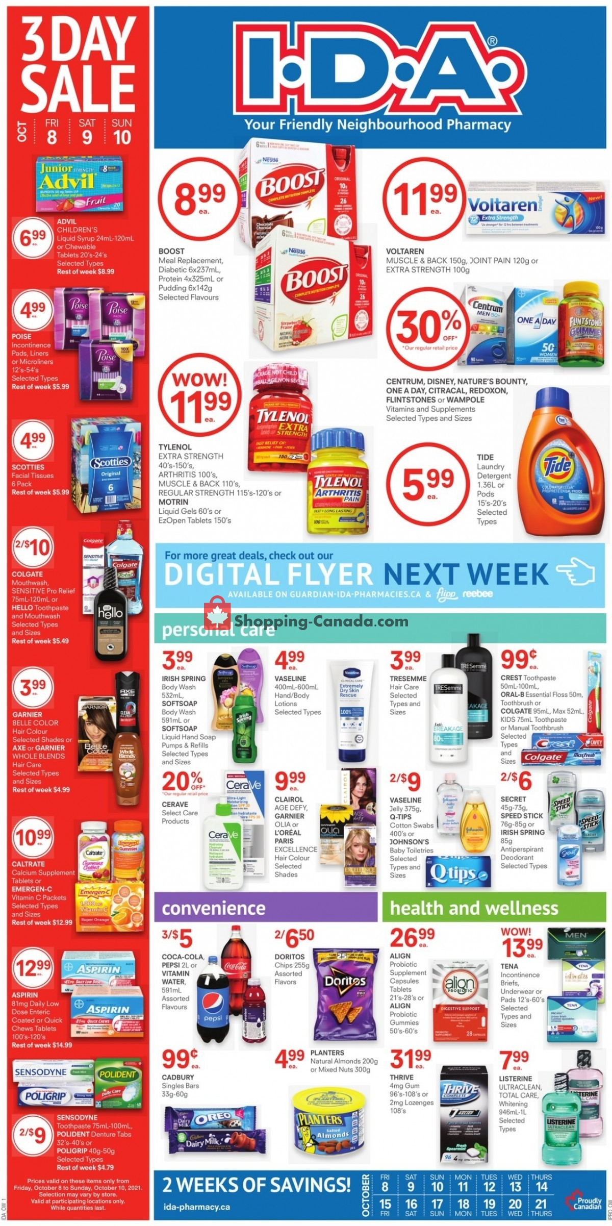 Flyer I.D.A. Canada - from Friday October 8, 2021 to Thursday October 21, 2021