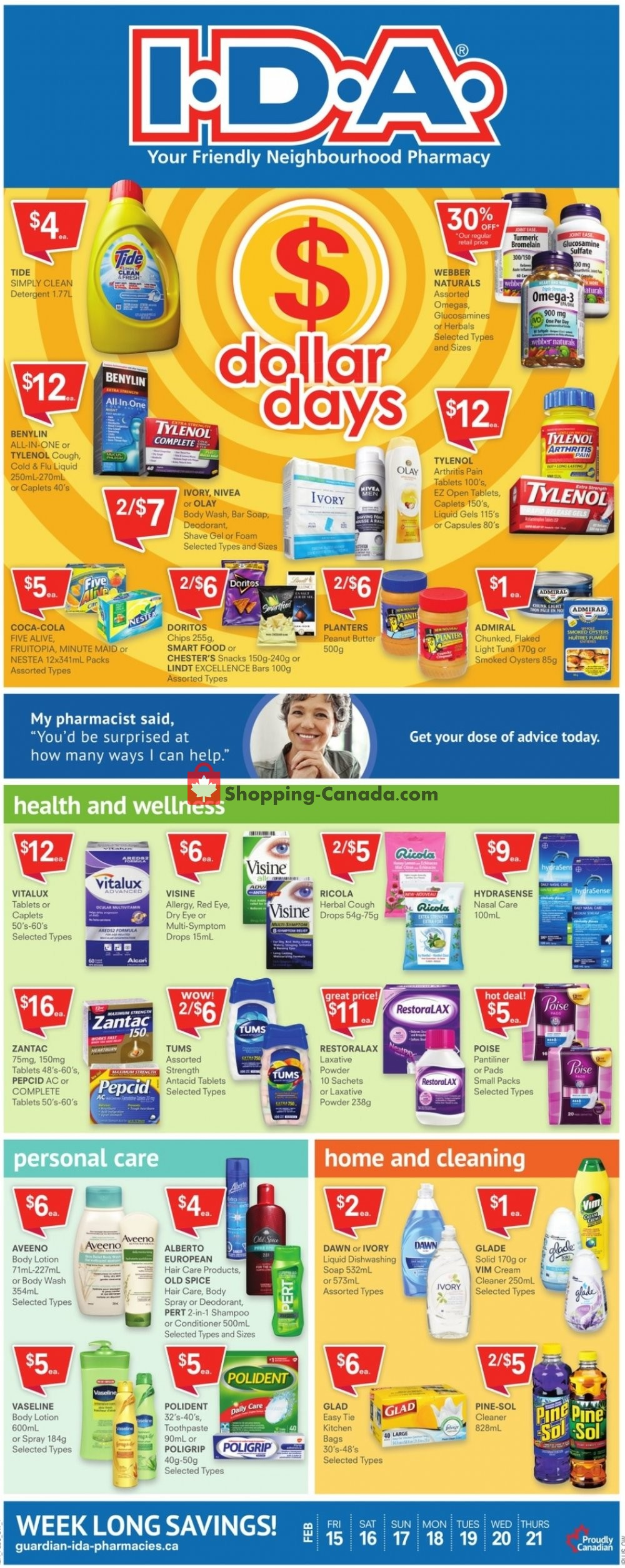 Flyer I.D.A. Canada - from Friday February 15, 2019 to Thursday February 21, 2019