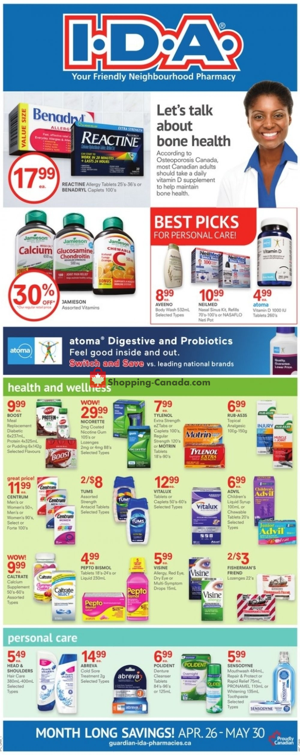 Flyer I.D.A. Canada - from Friday April 26, 2019 to Thursday May 30, 2019