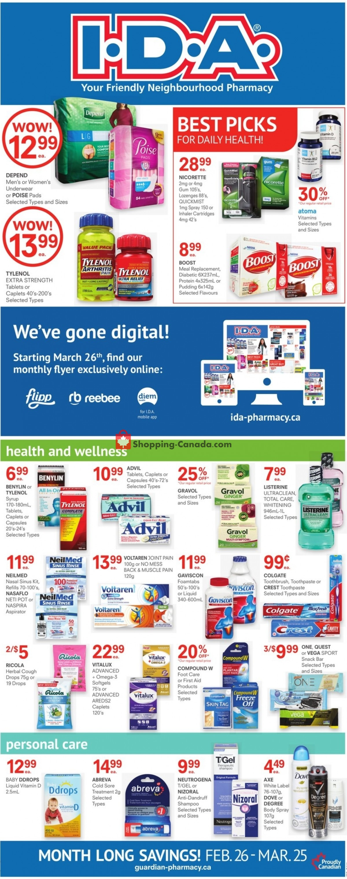 Flyer I.D.A. Canada - from Friday February 26, 2021 to Thursday March 25, 2021