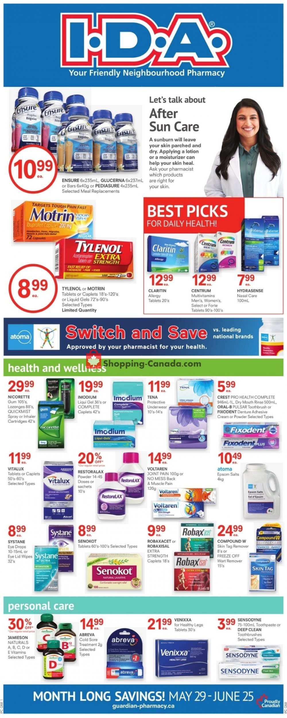 Flyer I.D.A. Canada - from Friday May 29, 2020 to Thursday June 25, 2020