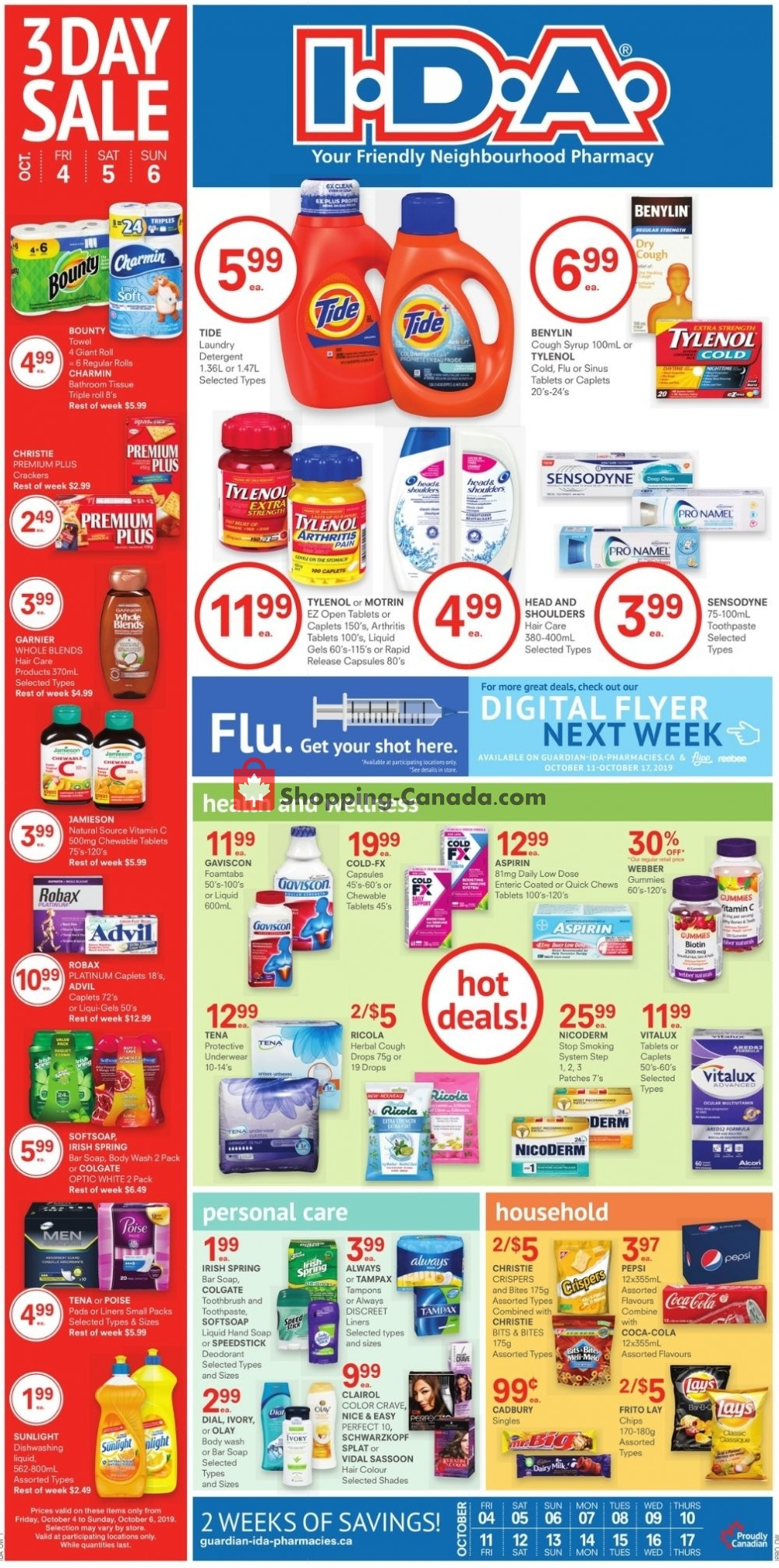 Flyer I.D.A. Canada - from Friday October 4, 2019 to Thursday October 17, 2019