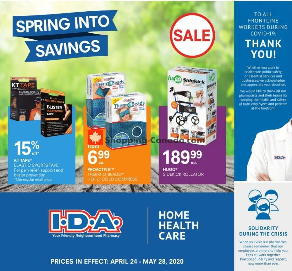 Flyer I.D.A. Canada - from Friday April 24, 2020 to Thursday May 28, 2020