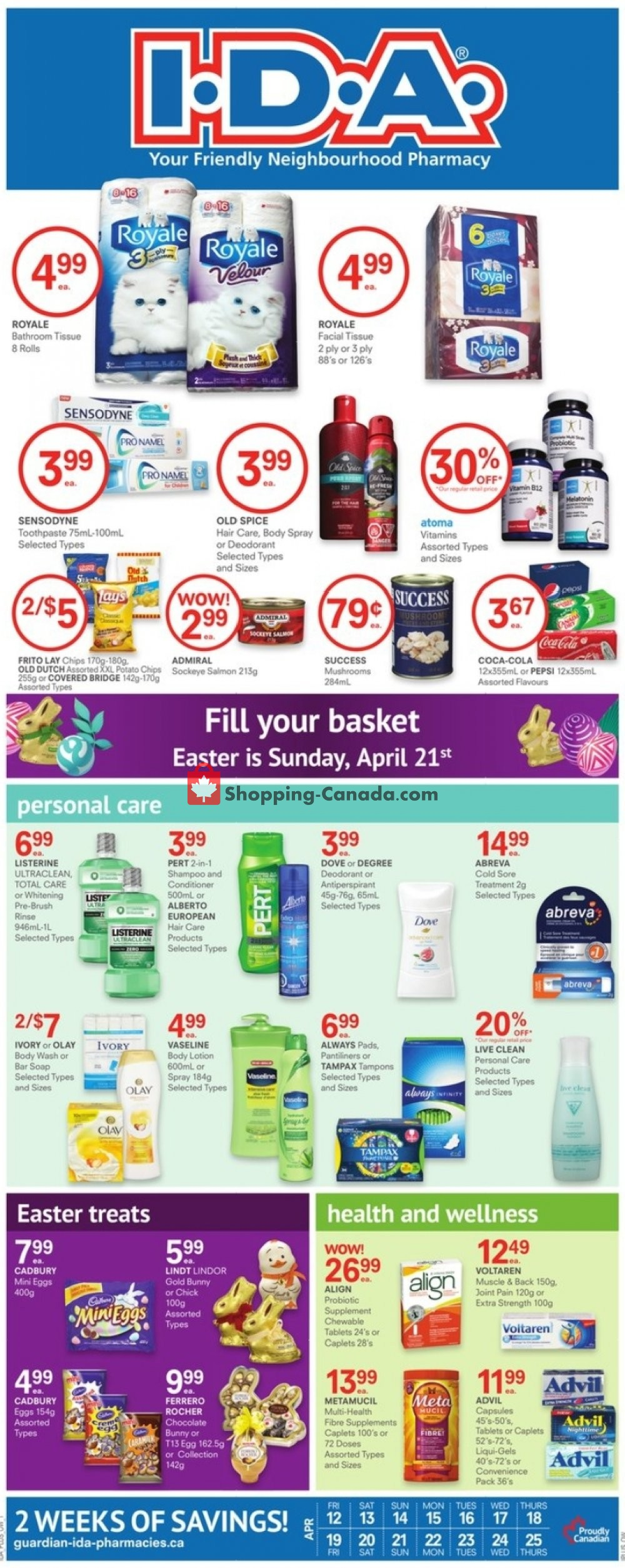 Flyer I.D.A. Canada - from Friday April 12, 2019 to Thursday April 25, 2019