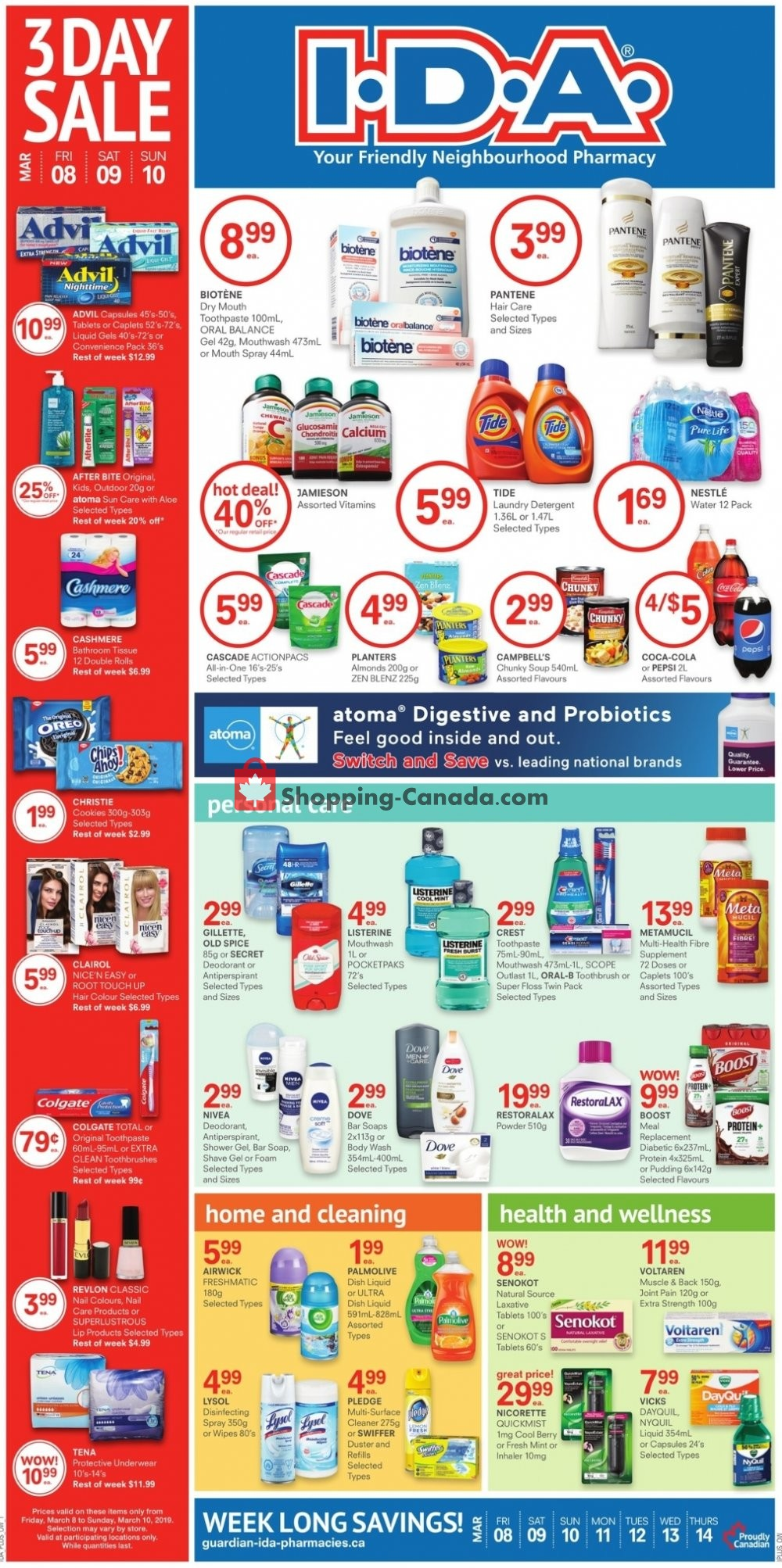 Flyer I.D.A. Canada - from Friday March 8, 2019 to Thursday March 14, 2019