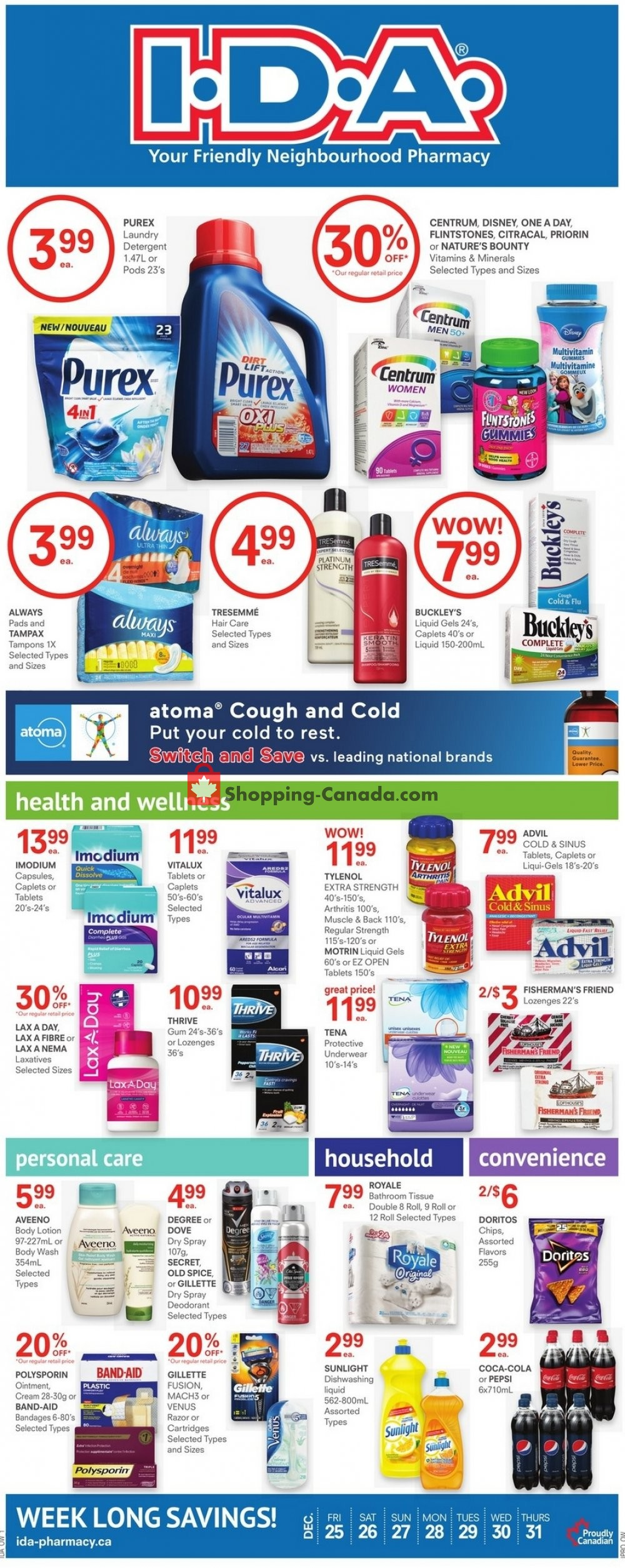 Flyer I.D.A. Canada - from Friday December 25, 2020 to Thursday December 31, 2020