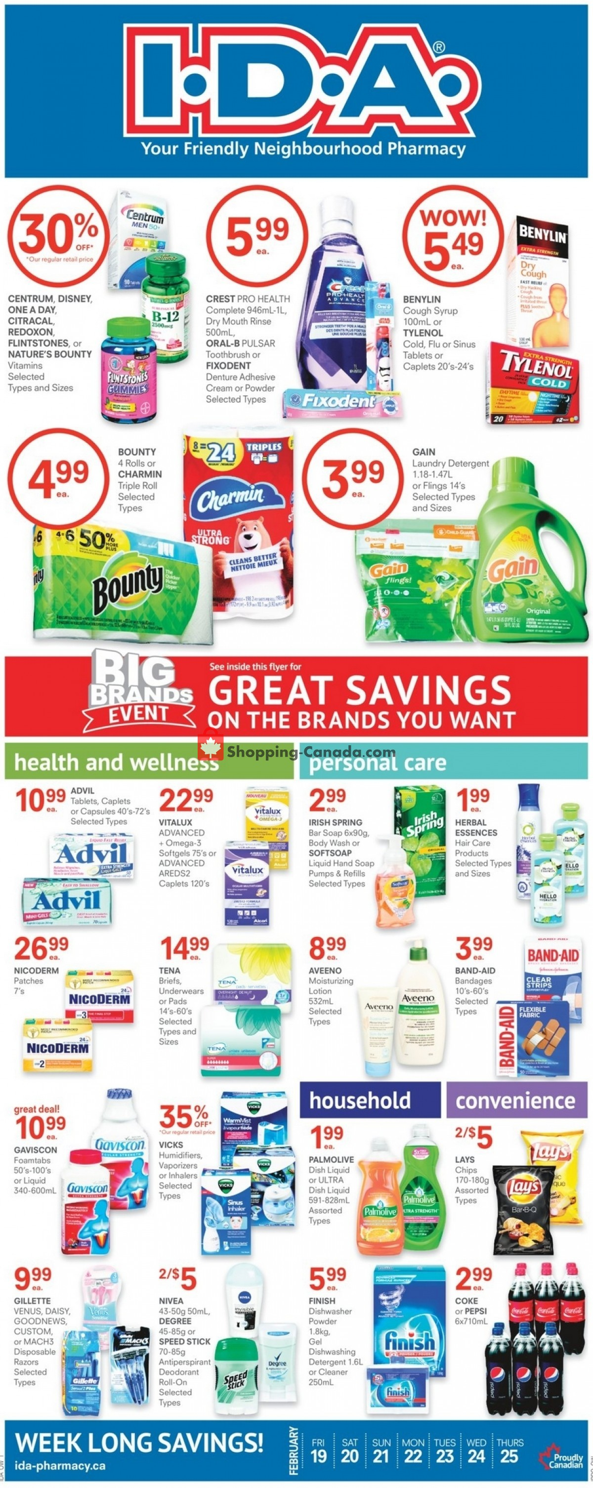 Flyer I.D.A. Canada - from Friday February 19, 2021 to Thursday February 25, 2021