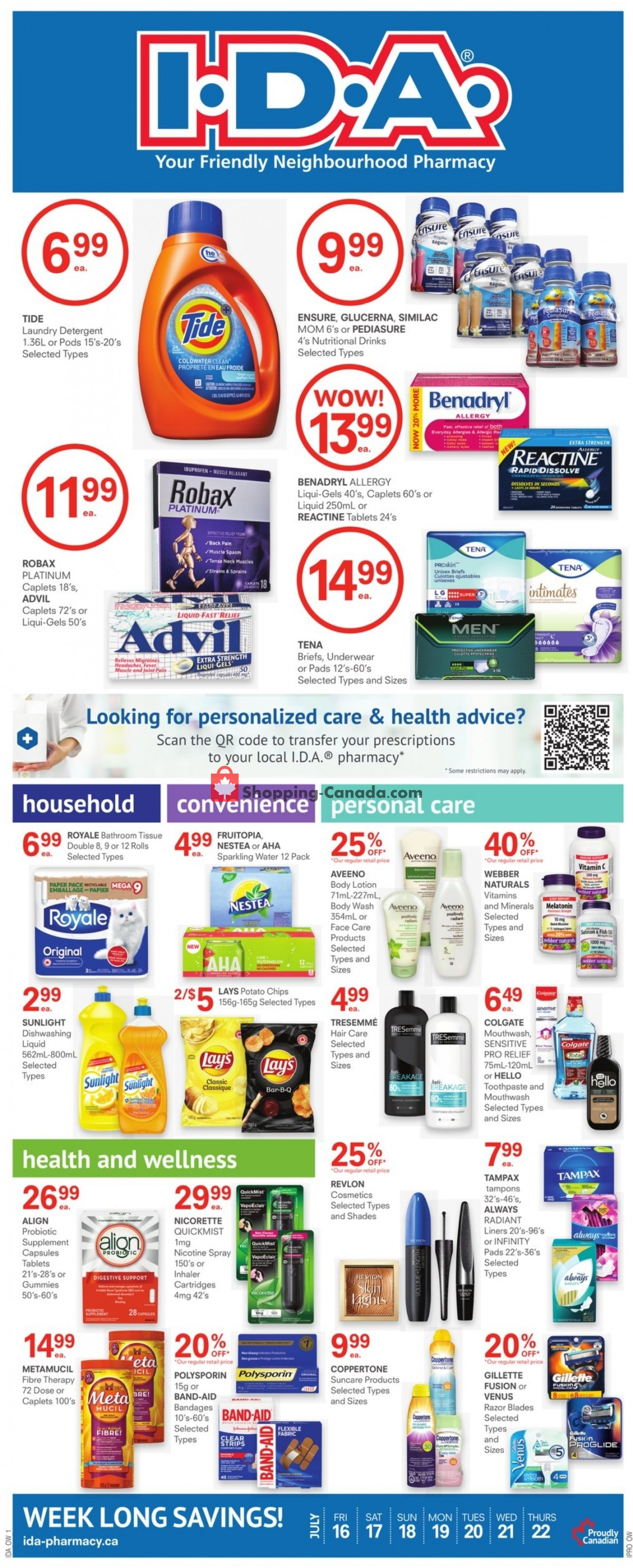 Flyer I.D.A. Canada - from Friday July 16, 2021 to Thursday July 22, 2021