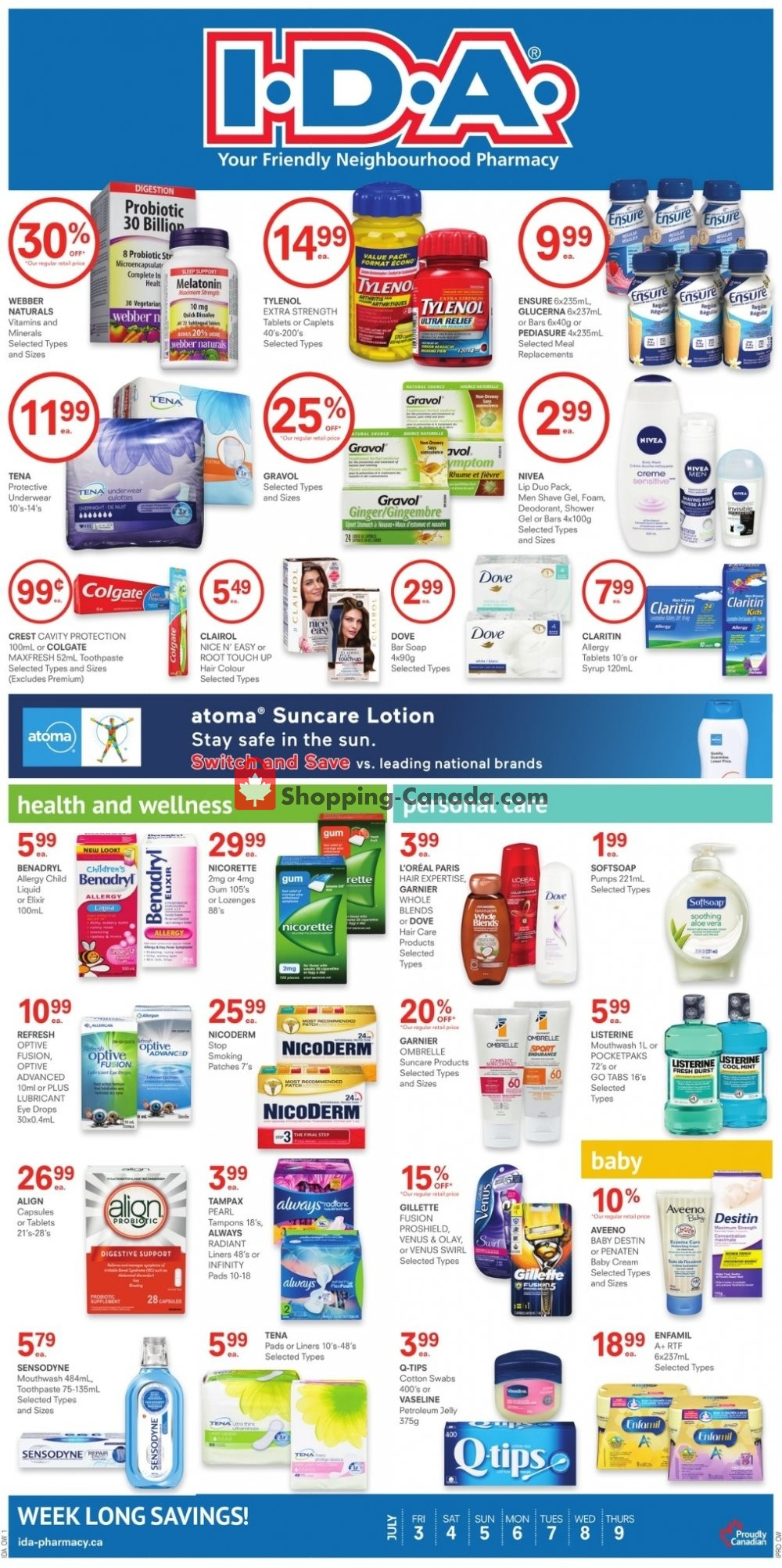 Flyer I.D.A. Canada - from Friday July 3, 2020 to Thursday July 9, 2020