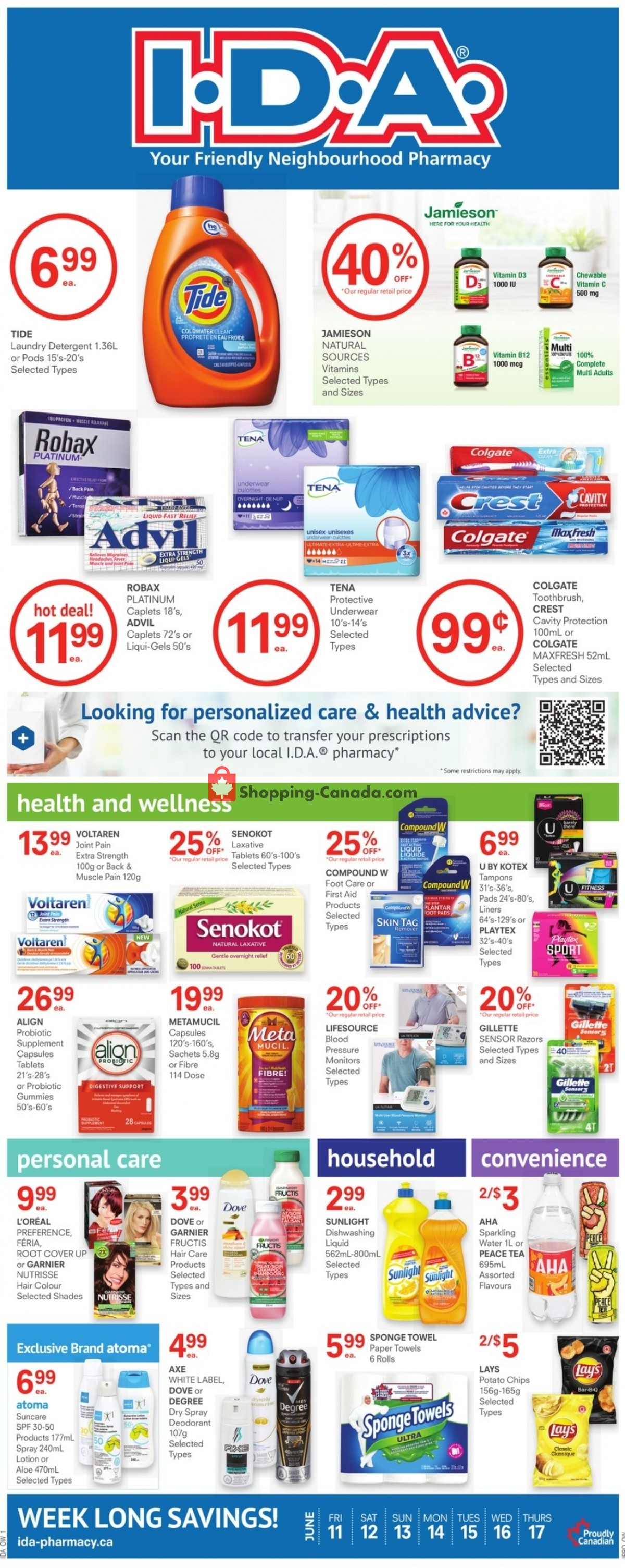Flyer I.D.A. Canada - from Friday June 11, 2021 to Thursday June 17, 2021