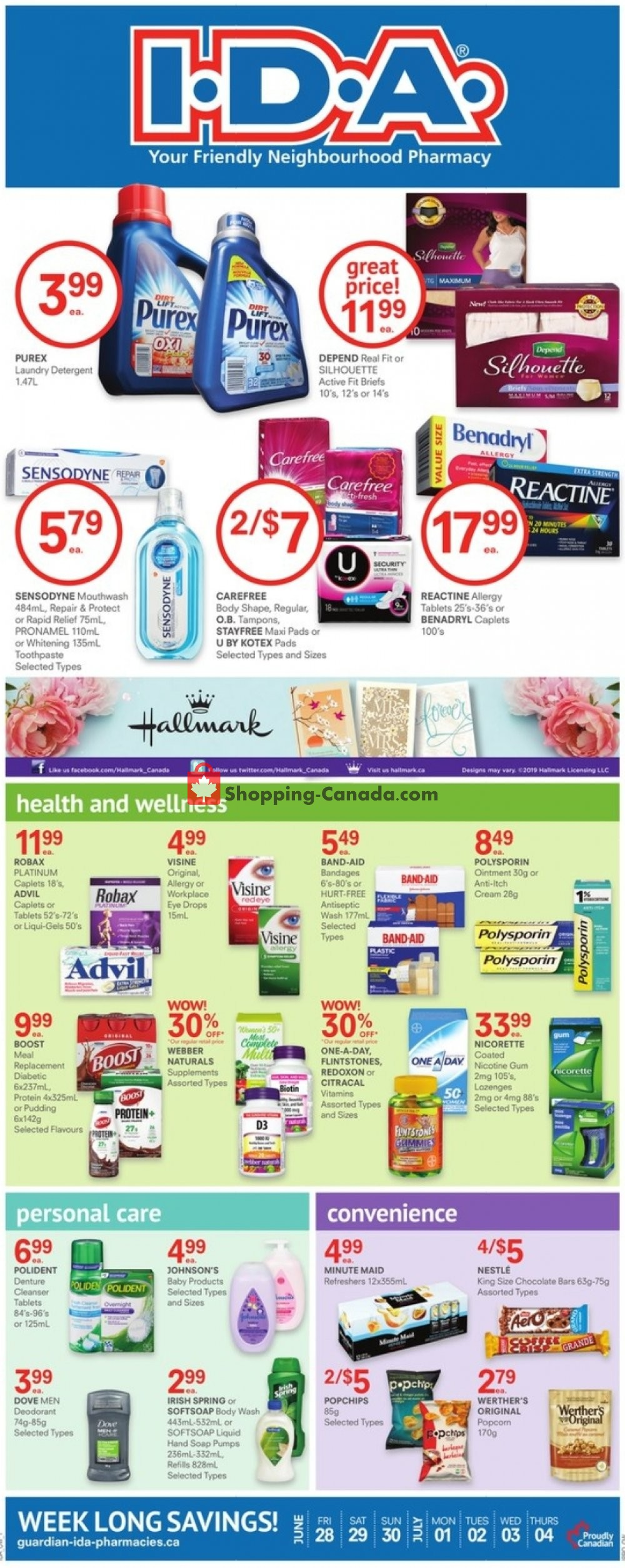 Flyer I.D.A. Canada - from Friday June 28, 2019 to Thursday July 4, 2019