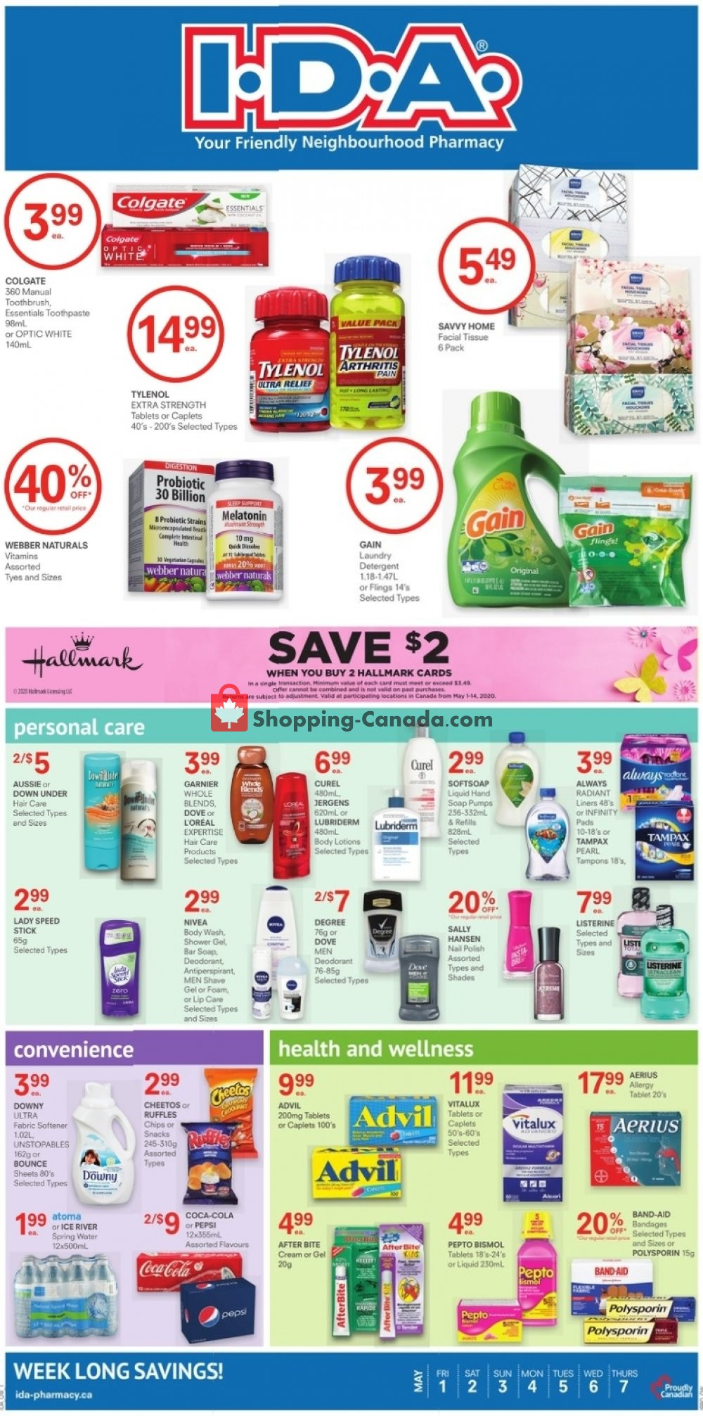 Flyer I.D.A. Canada - from Friday May 1, 2020 to Thursday May 7, 2020