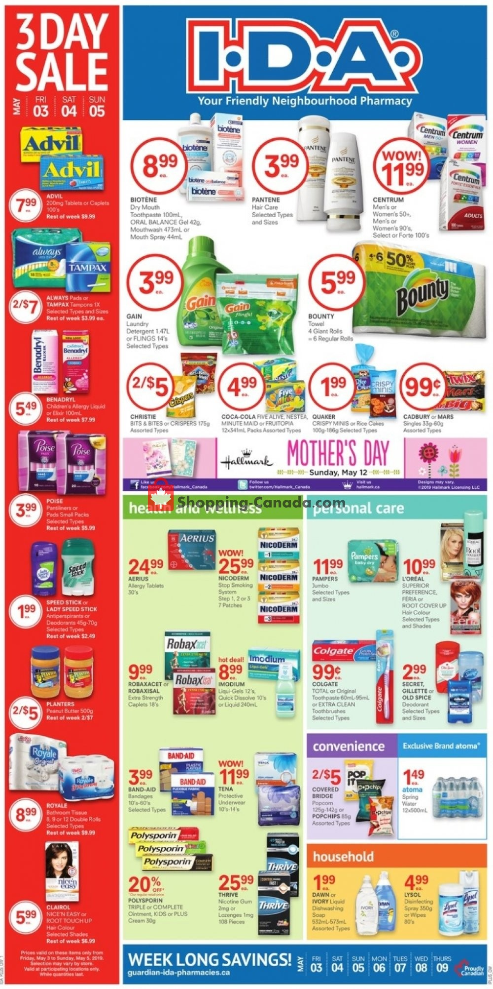 Flyer I.D.A. Canada - from Friday May 3, 2019 to Thursday May 9, 2019
