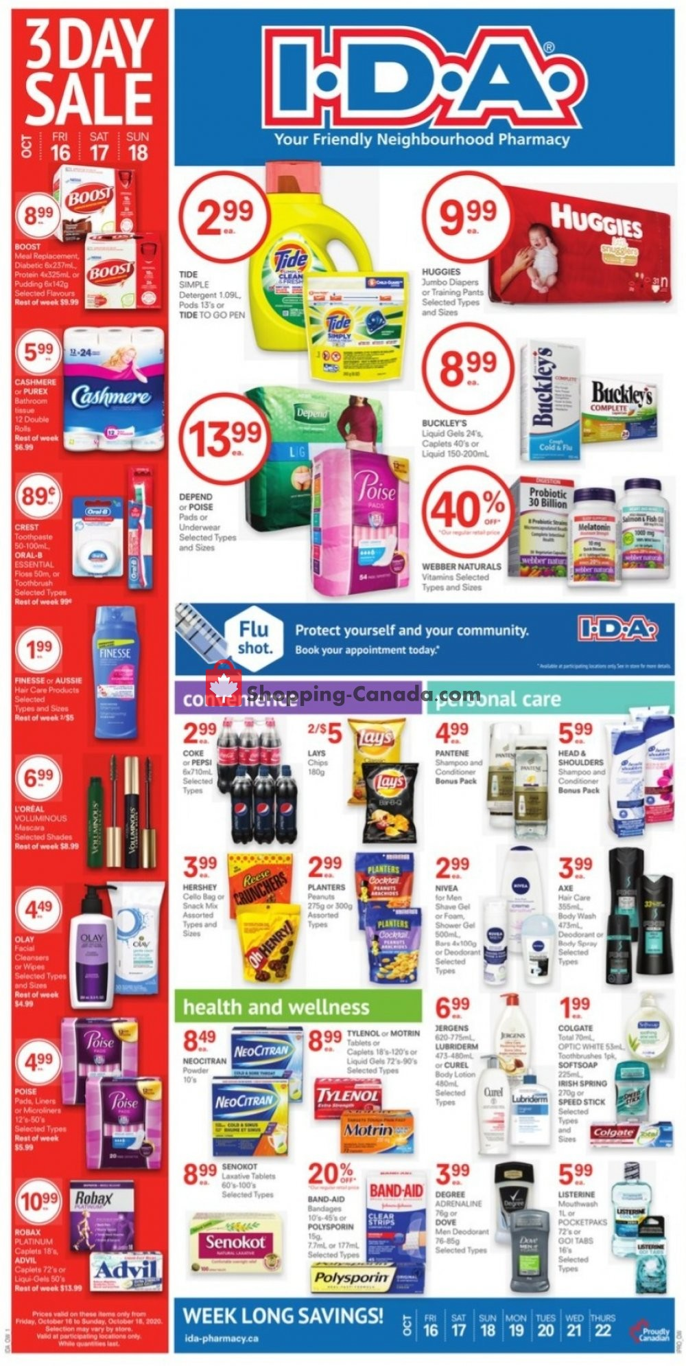 Flyer I.D.A. Canada - from Friday October 16, 2020 to Thursday October 22, 2020