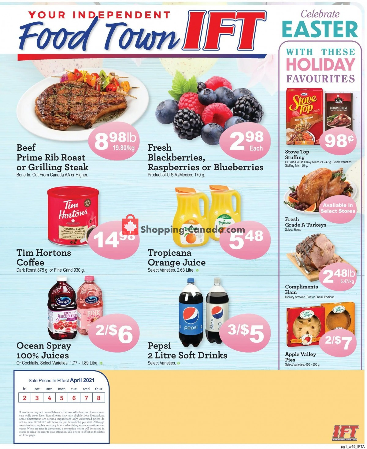 Flyer IFT Independent Food Town Canada - from Friday April 2, 2021 to Thursday April 8, 2021