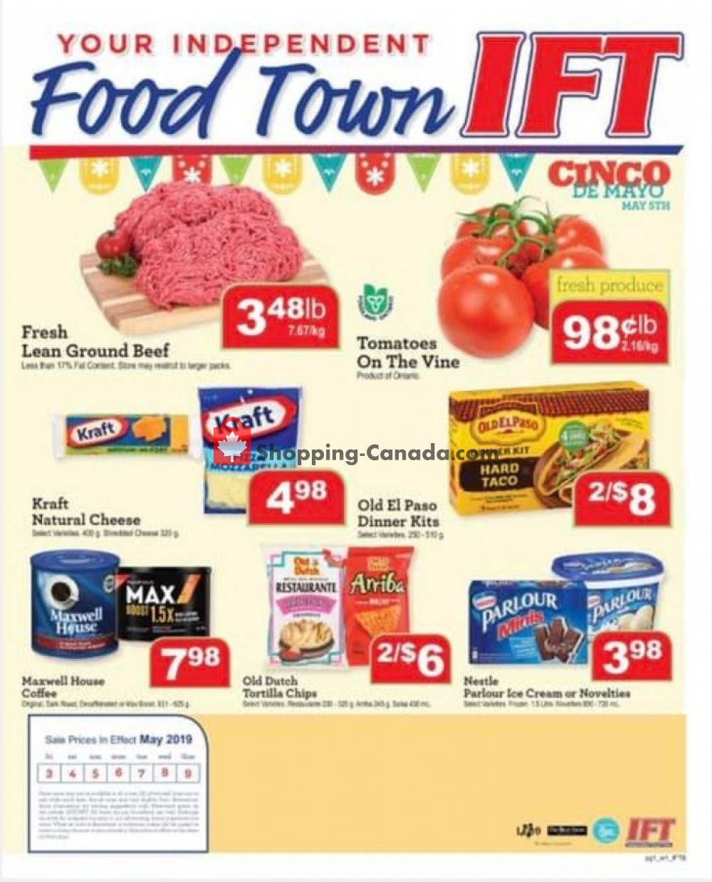 Flyer IFT Independent Food Town Canada - from Friday May 3, 2019 to Thursday May 9, 2019