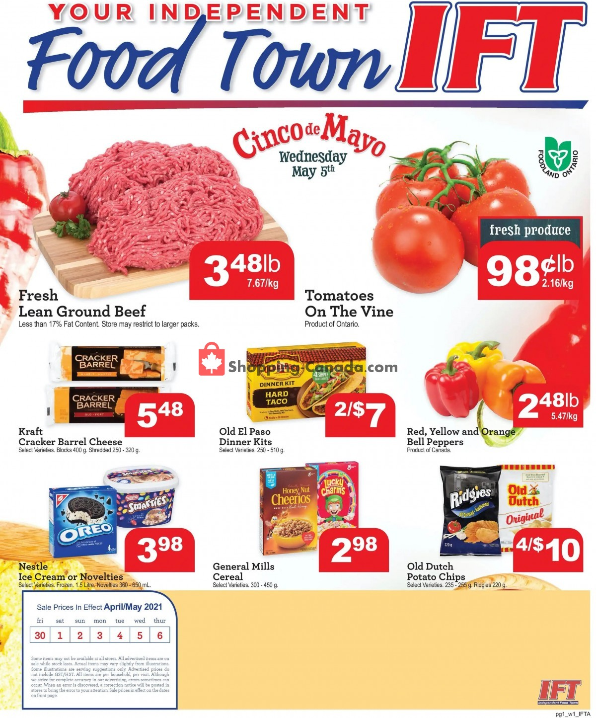 Flyer IFT Independent Food Town Canada - from Friday April 30, 2021 to Thursday May 6, 2021