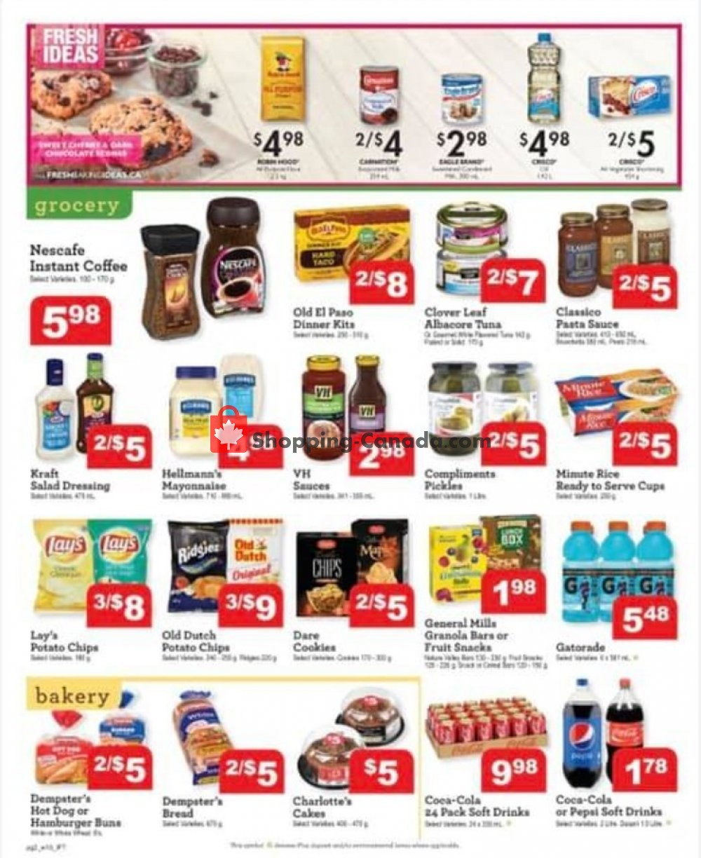 Flyer IFT Independent Food Town Canada - from Friday August 9, 2019 to Thursday August 15, 2019