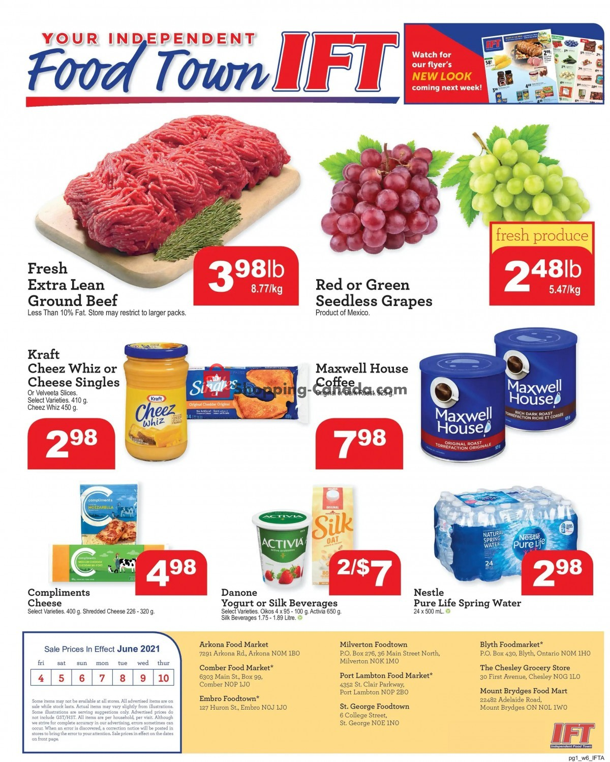 Flyer IFT Independent Food Town Canada - from Friday June 4, 2021 to Thursday June 10, 2021