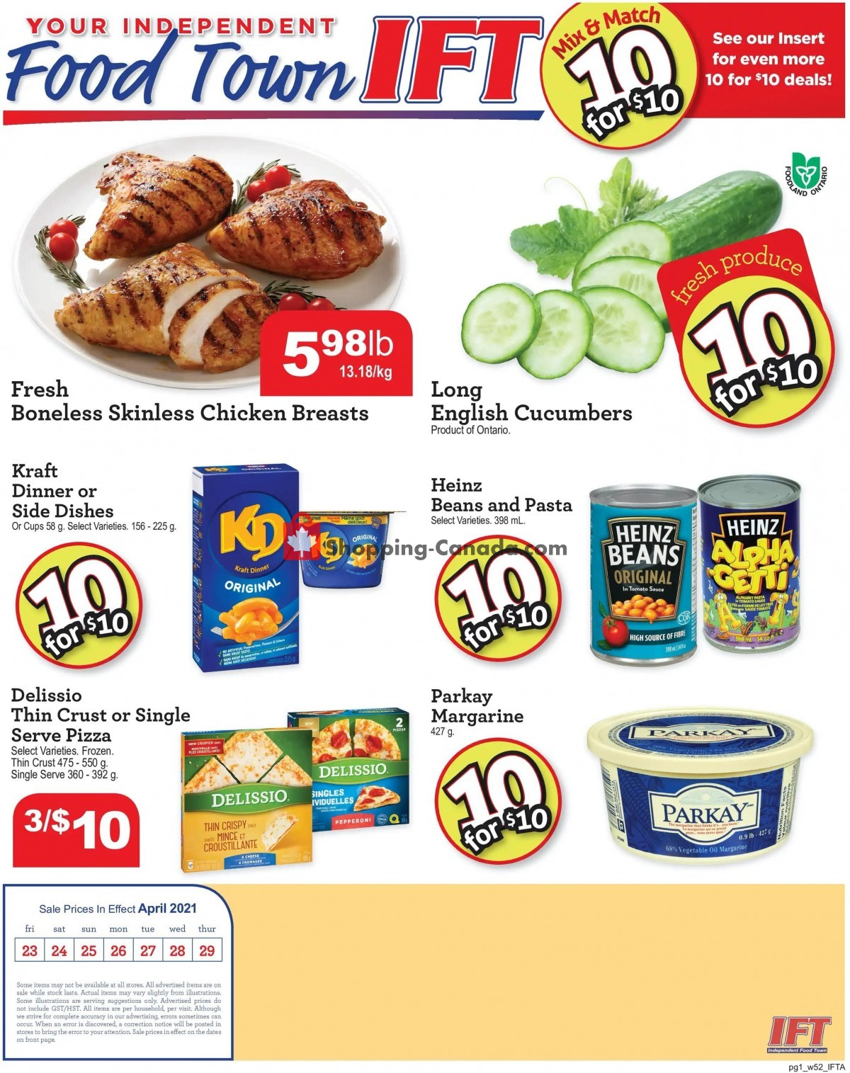 Flyer IFT Independent Food Town Canada - from Friday April 23, 2021 to Thursday April 29, 2021