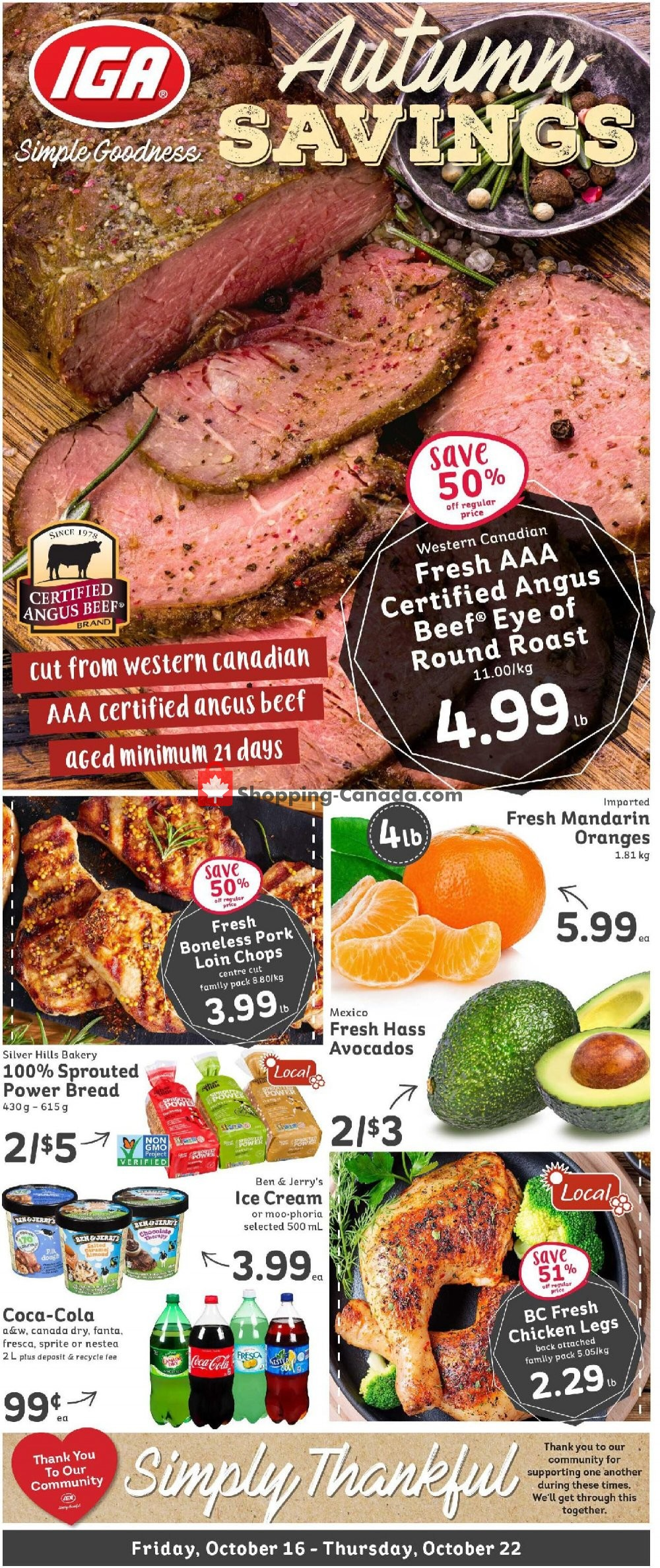 Flyer IGA Extra Canada - from Friday October 16, 2020 to Thursday October 22, 2020