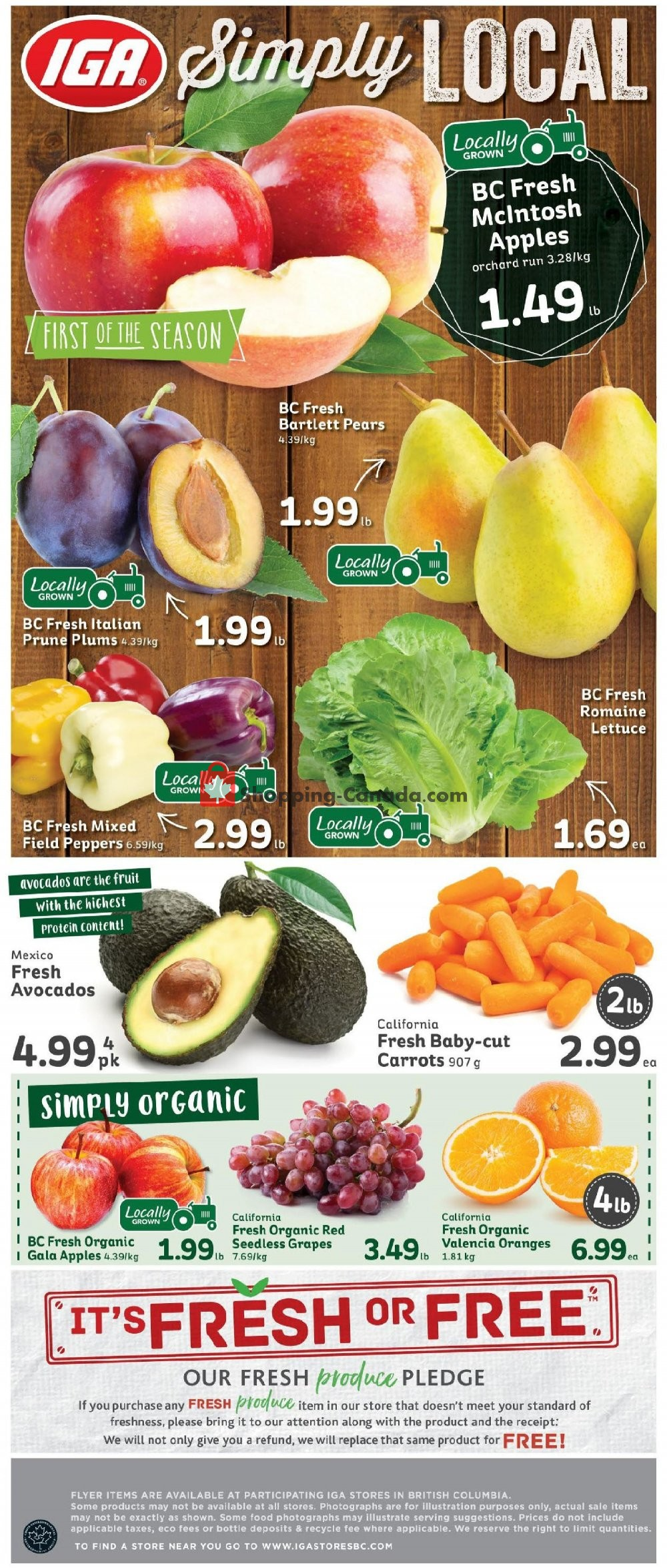 Flyer IGA Extra Canada - from Friday September 6, 2019 to Thursday September 12, 2019